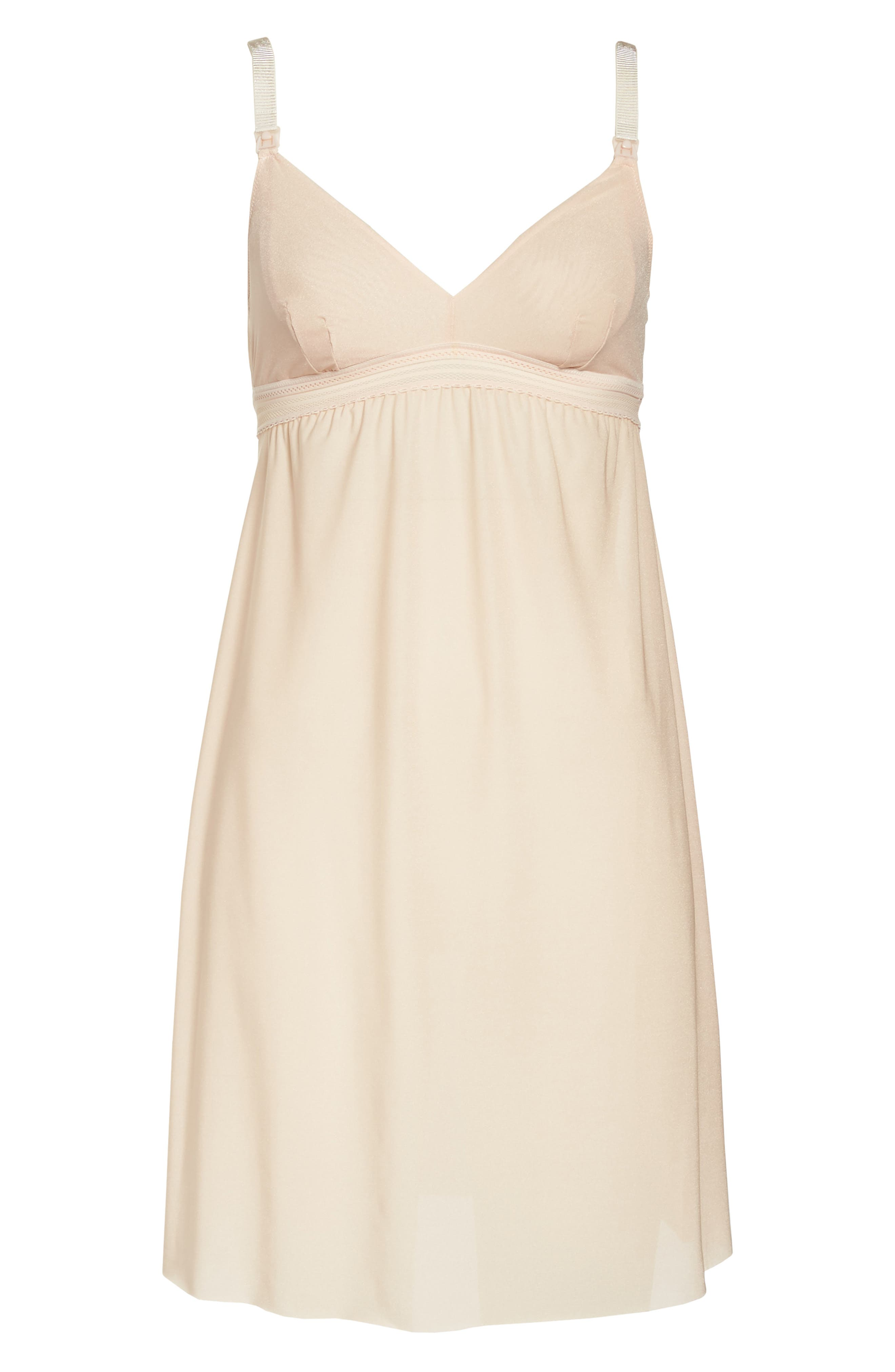Laced In Aire Chemise,                             Alternate thumbnail 4, color,                             Nude Rose
