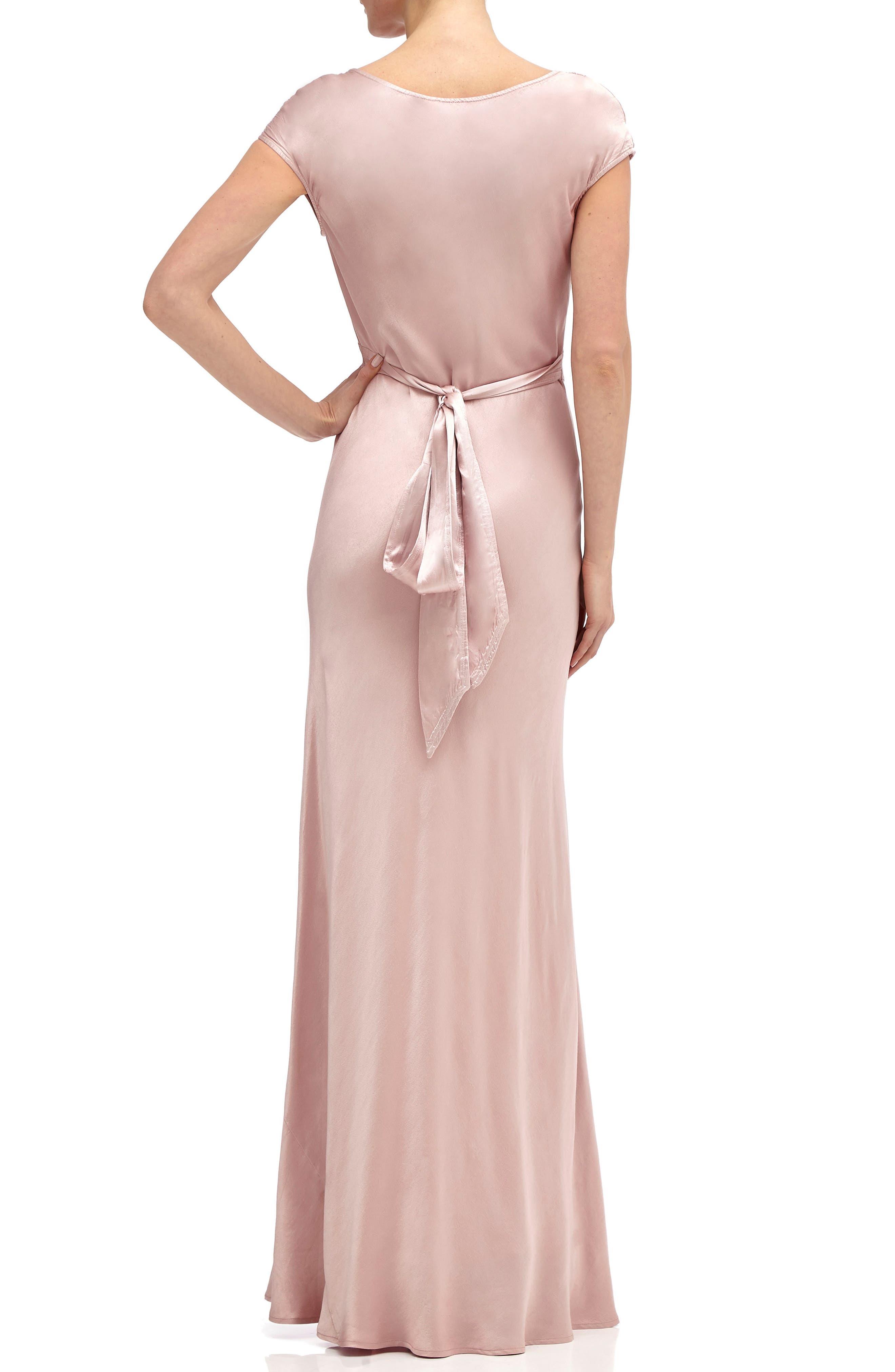 Fern Cowl Neck Gown,                             Alternate thumbnail 2, color,                             Boudoir Pink