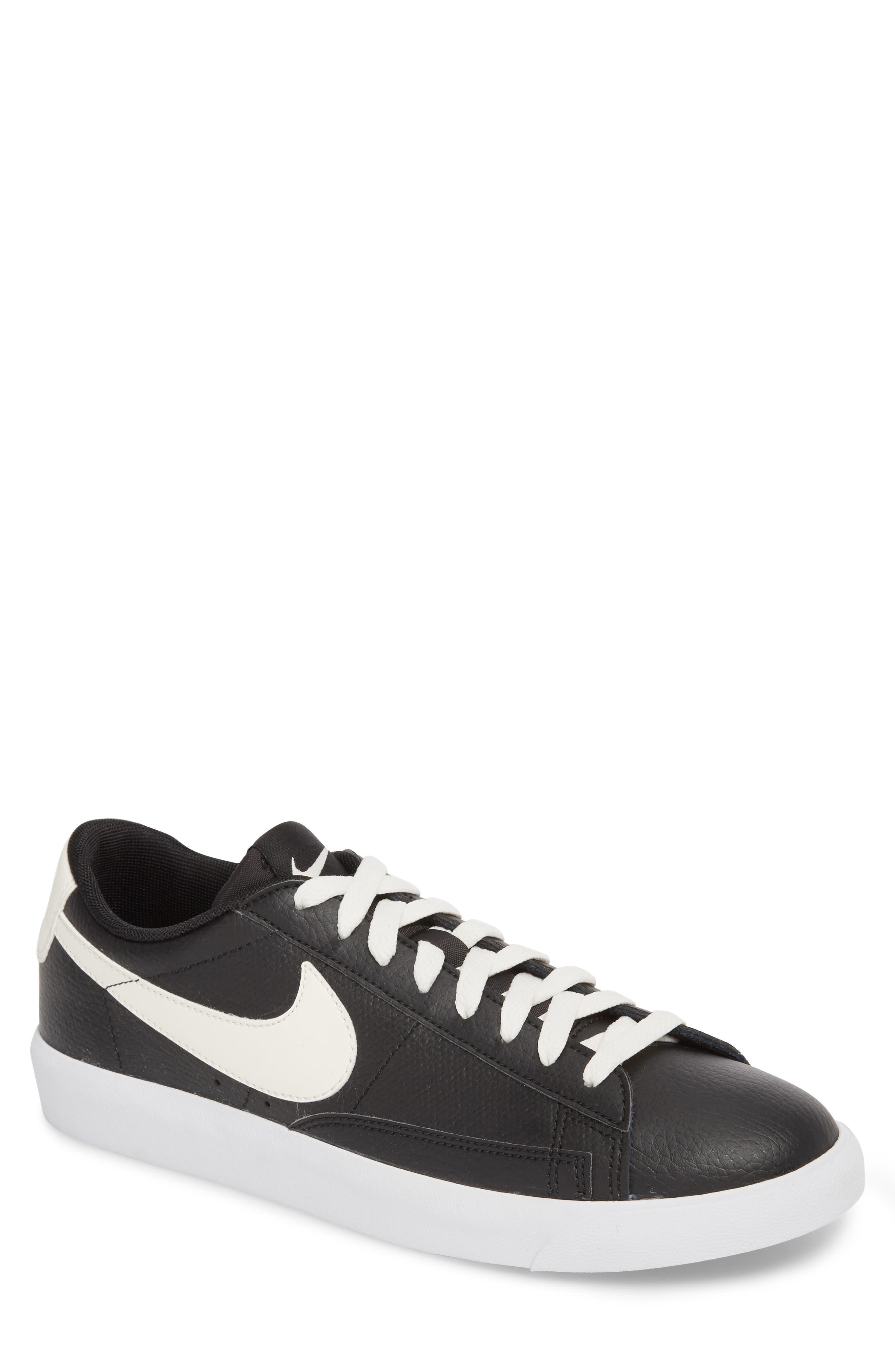 Blazer Low Leather Sneaker,                             Main thumbnail 1, color,                             Black/ Sail