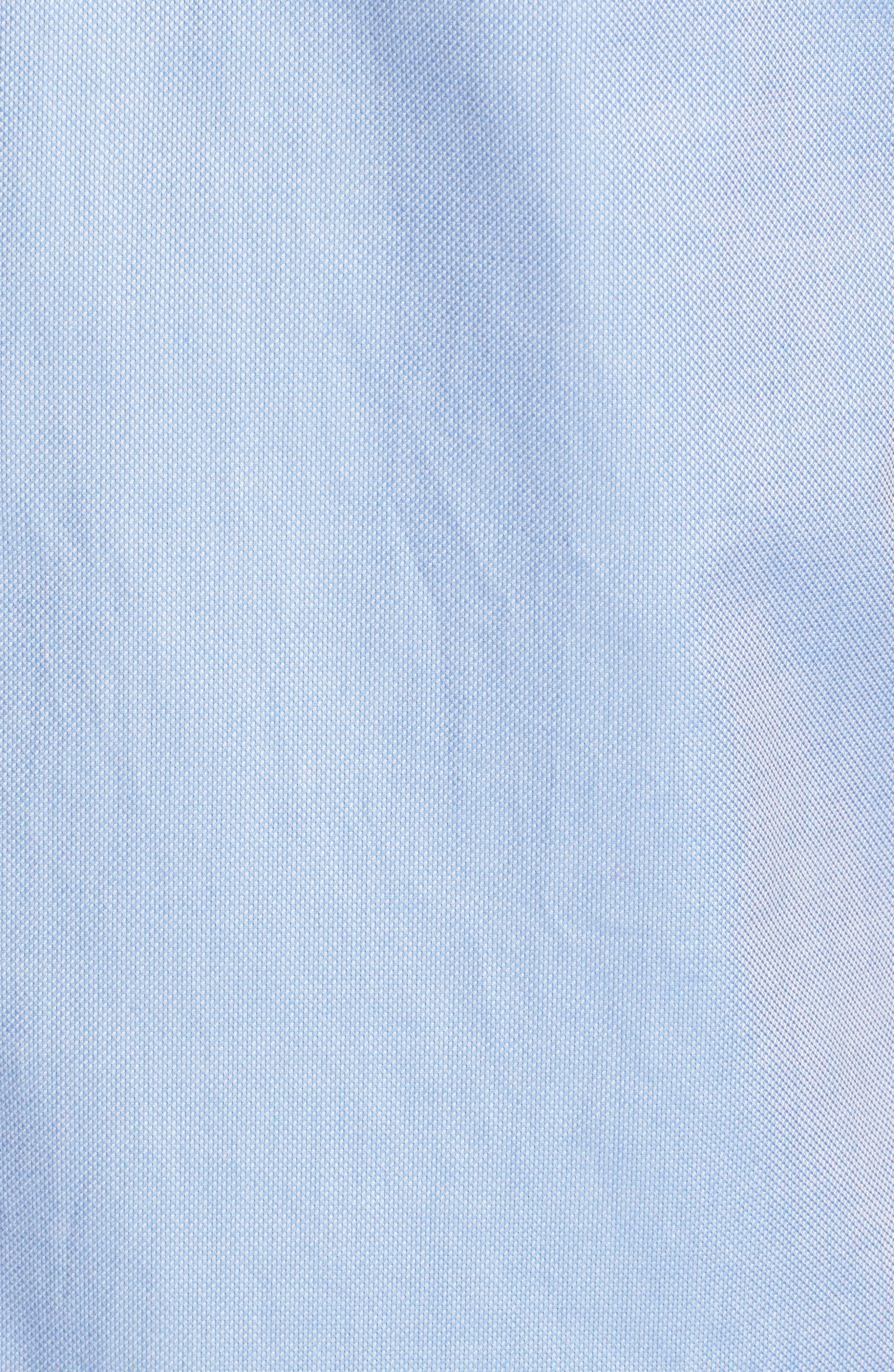 Wallott Extra Slim Fit Short Sleeve Sport Shirt,                             Alternate thumbnail 5, color,                             Blue