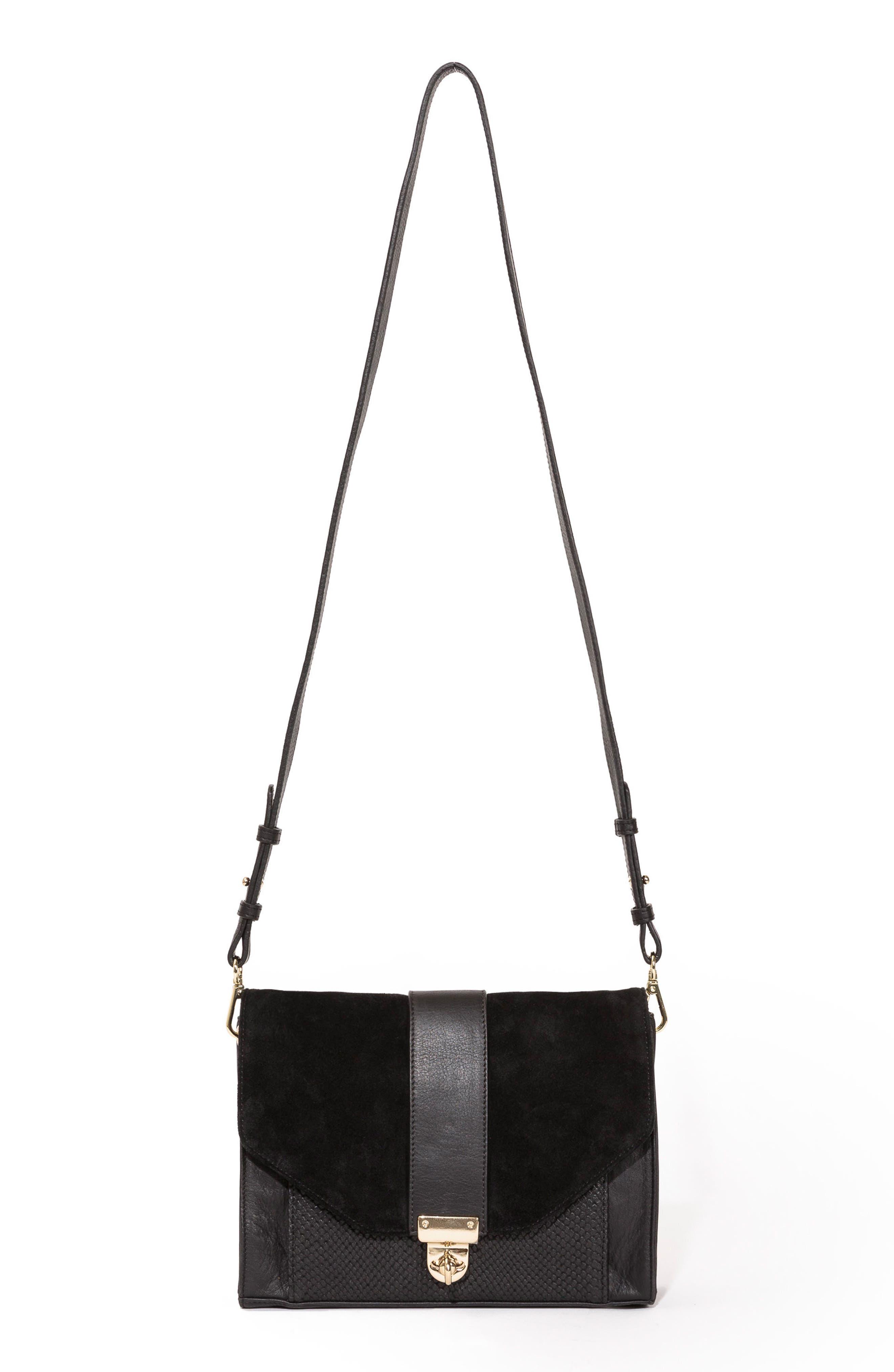 Tiger Crossbody Bag,                             Main thumbnail 1, color,                             Black
