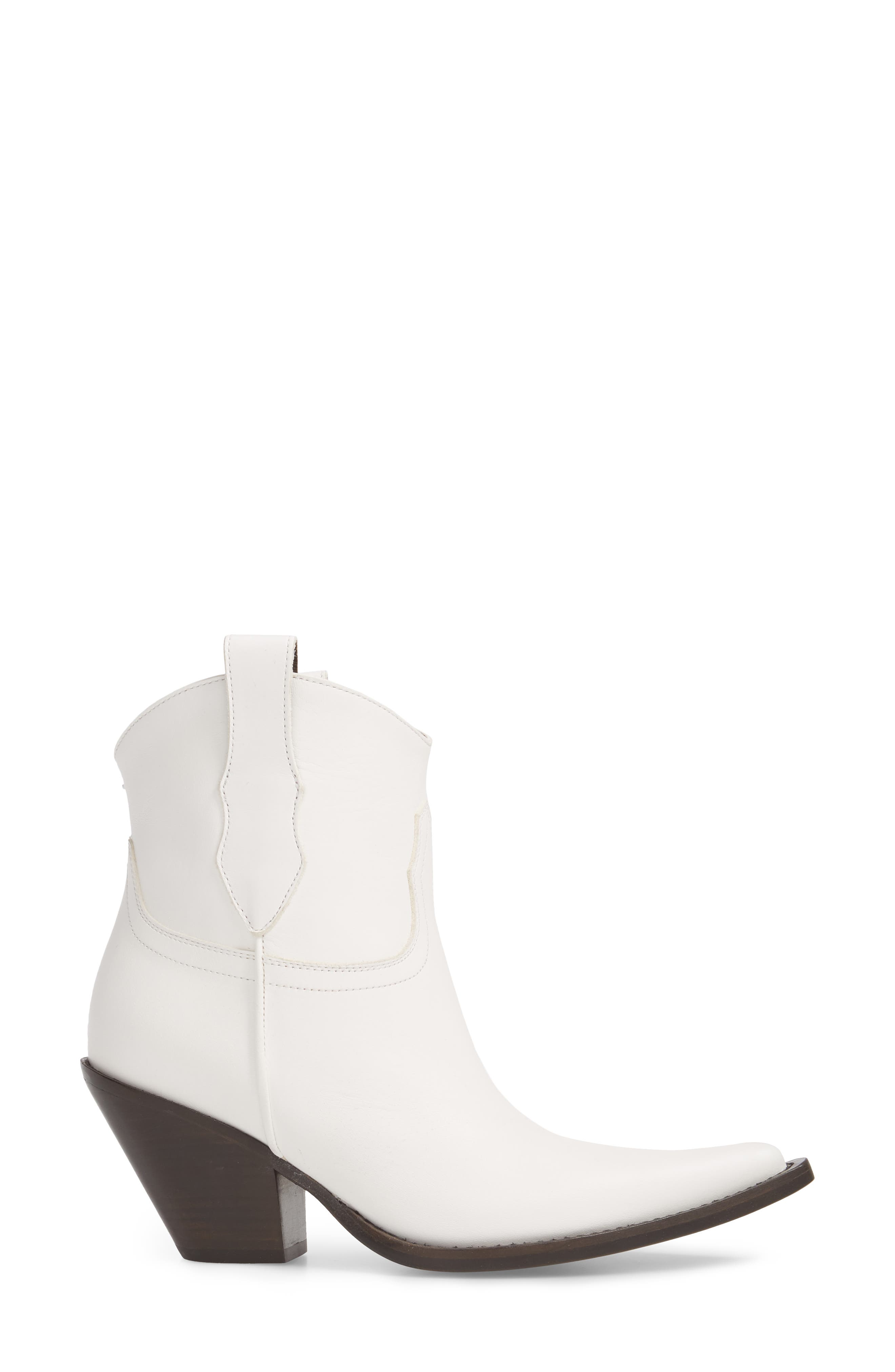 Low Mexas Western Bootie,                             Alternate thumbnail 3, color,                             White