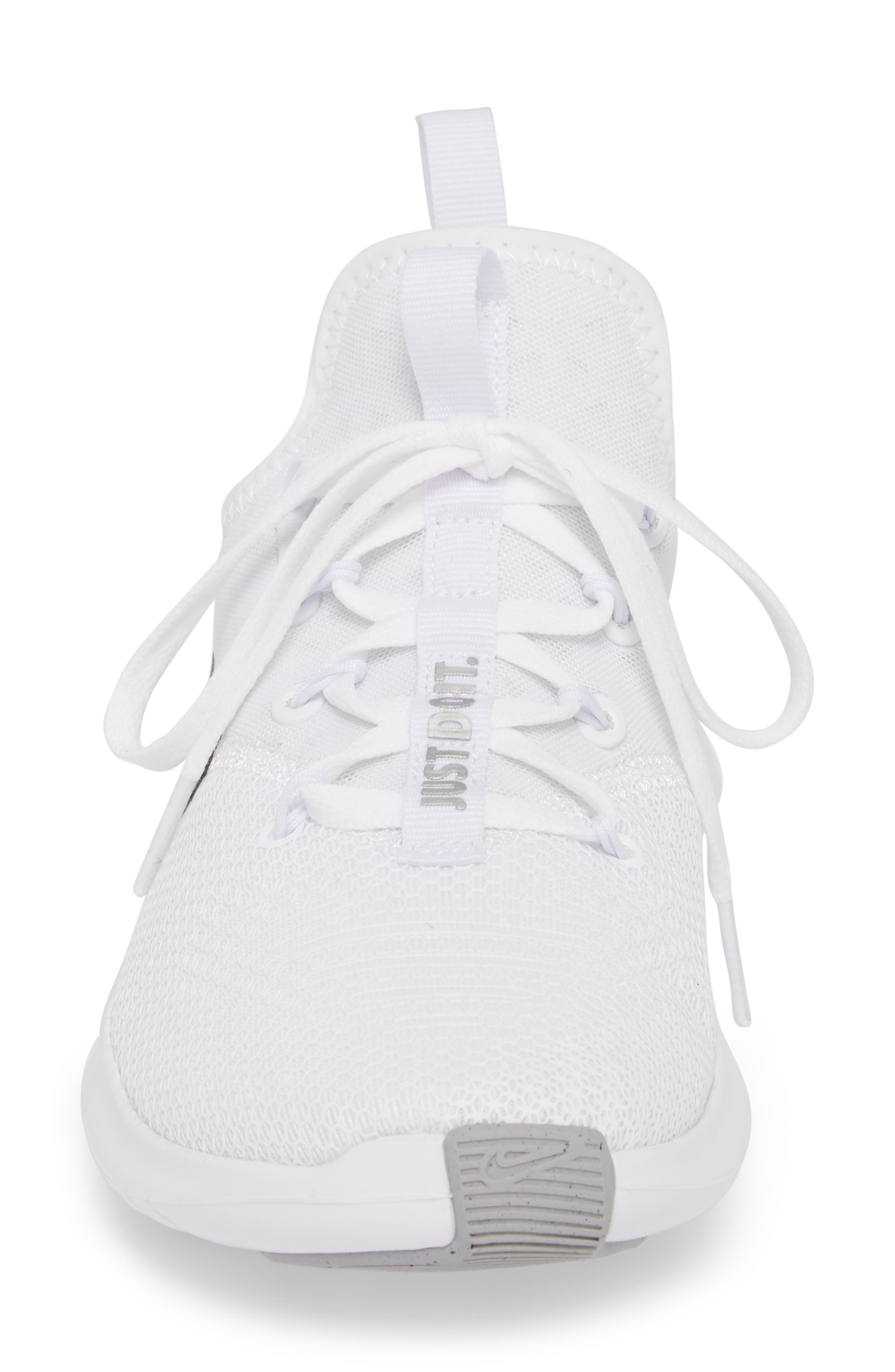 Free TR8 Training Shoe,                             Alternate thumbnail 4, color,                             White/ Metallic Silver/ White