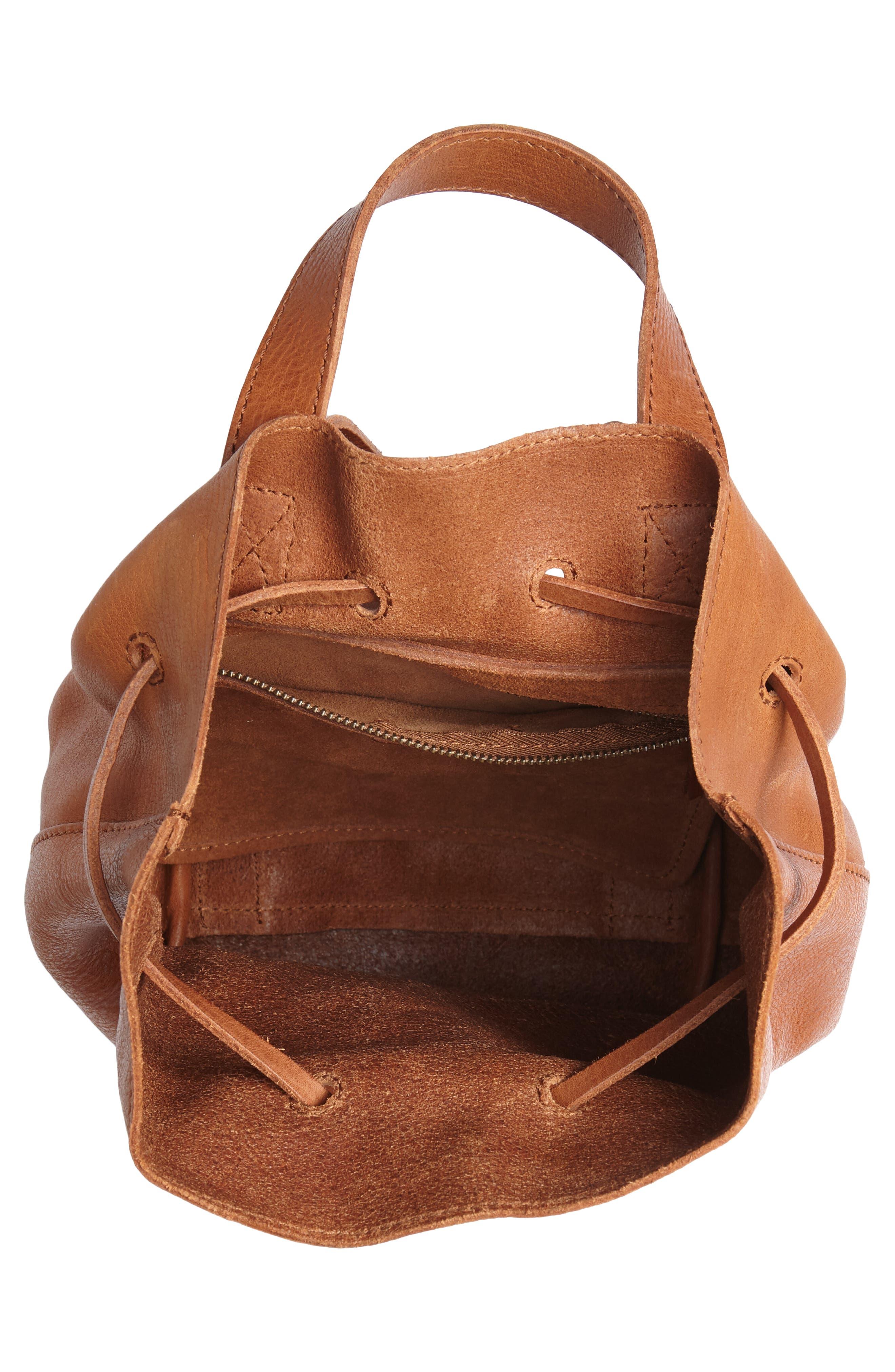 Mini Somerset Leather Backpack,                             Alternate thumbnail 4, color,                             English Saddle