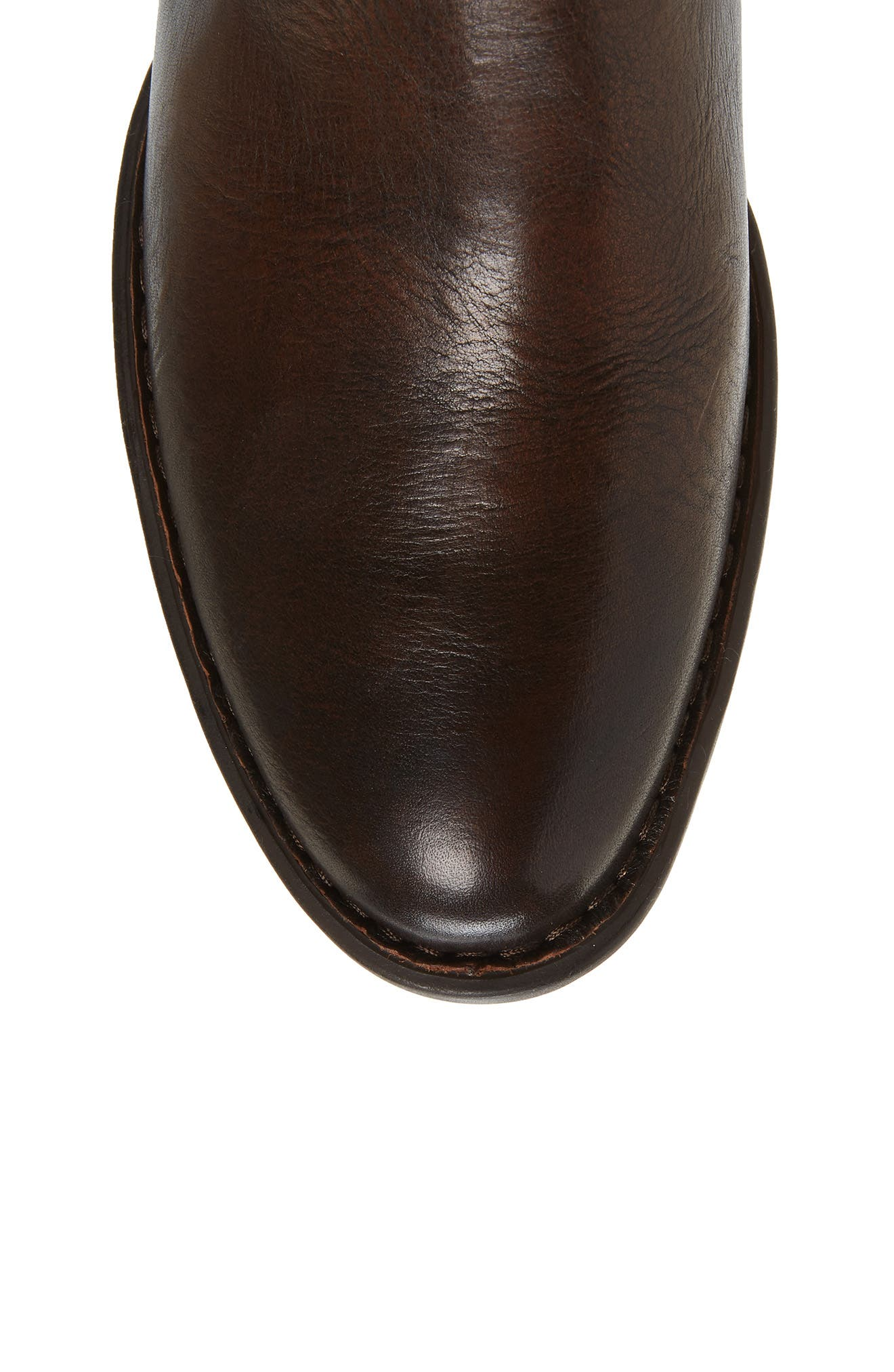 Cupra Tall Boot,                             Alternate thumbnail 5, color,                             Brown Leather