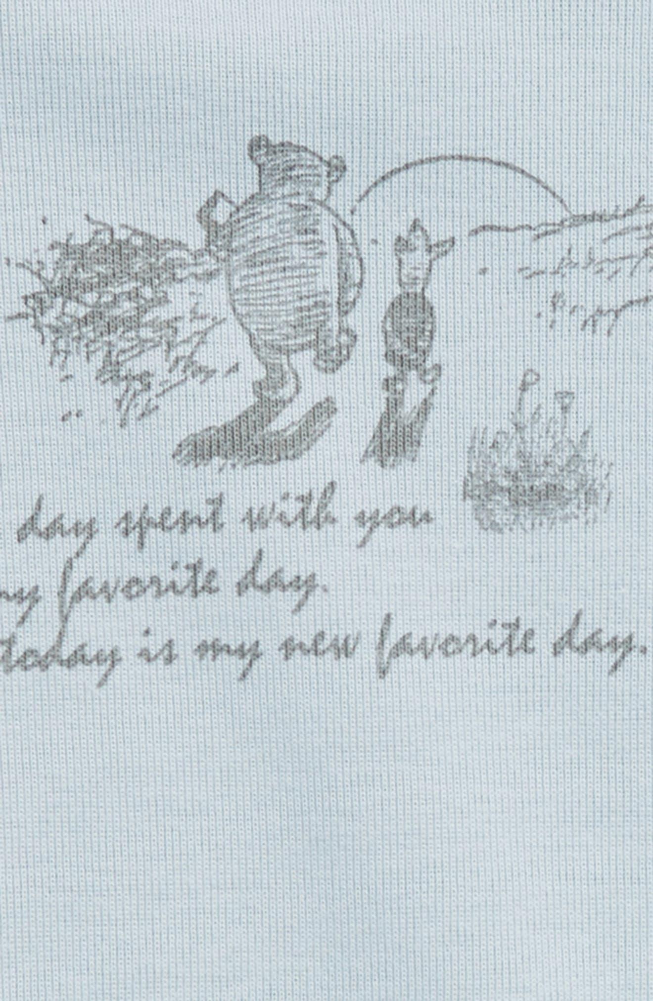 x Disney<sup>®</sup> Winnie the Pooh - Favorite Day Organic Cotton Bodysuit,                             Alternate thumbnail 2, color,                             Sky