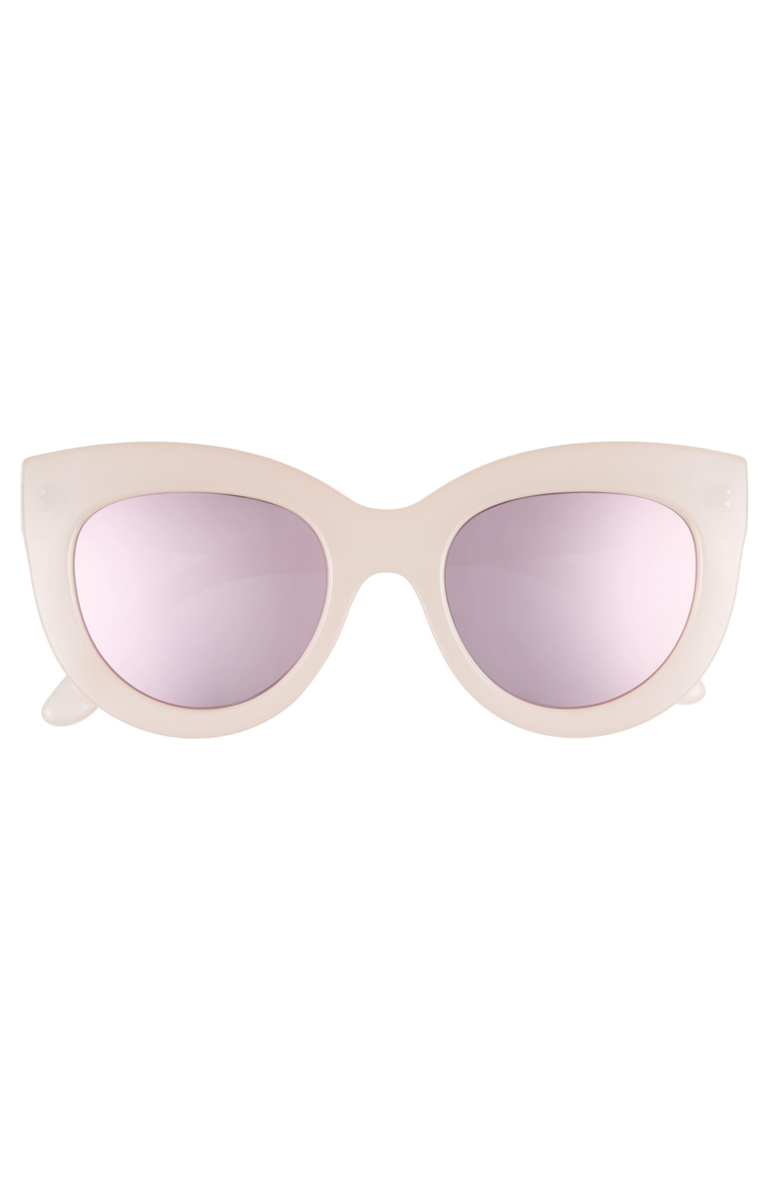 Torola V2 51mm Cat Eye Sunglasses,                             Alternate thumbnail 3, color,                             Blossom