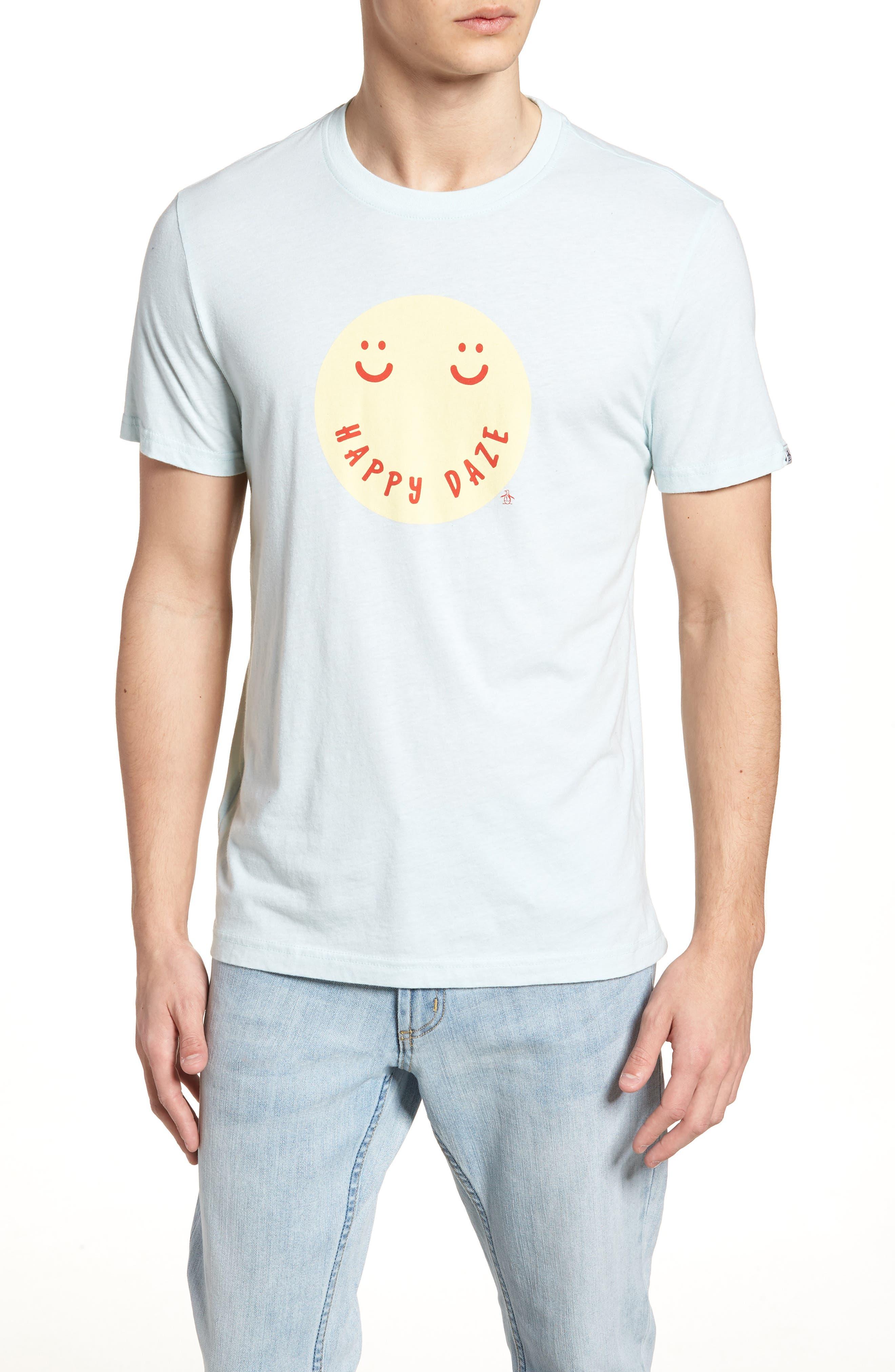 Happy Daze T-Shirt,                             Main thumbnail 1, color,                             Pastel Blue