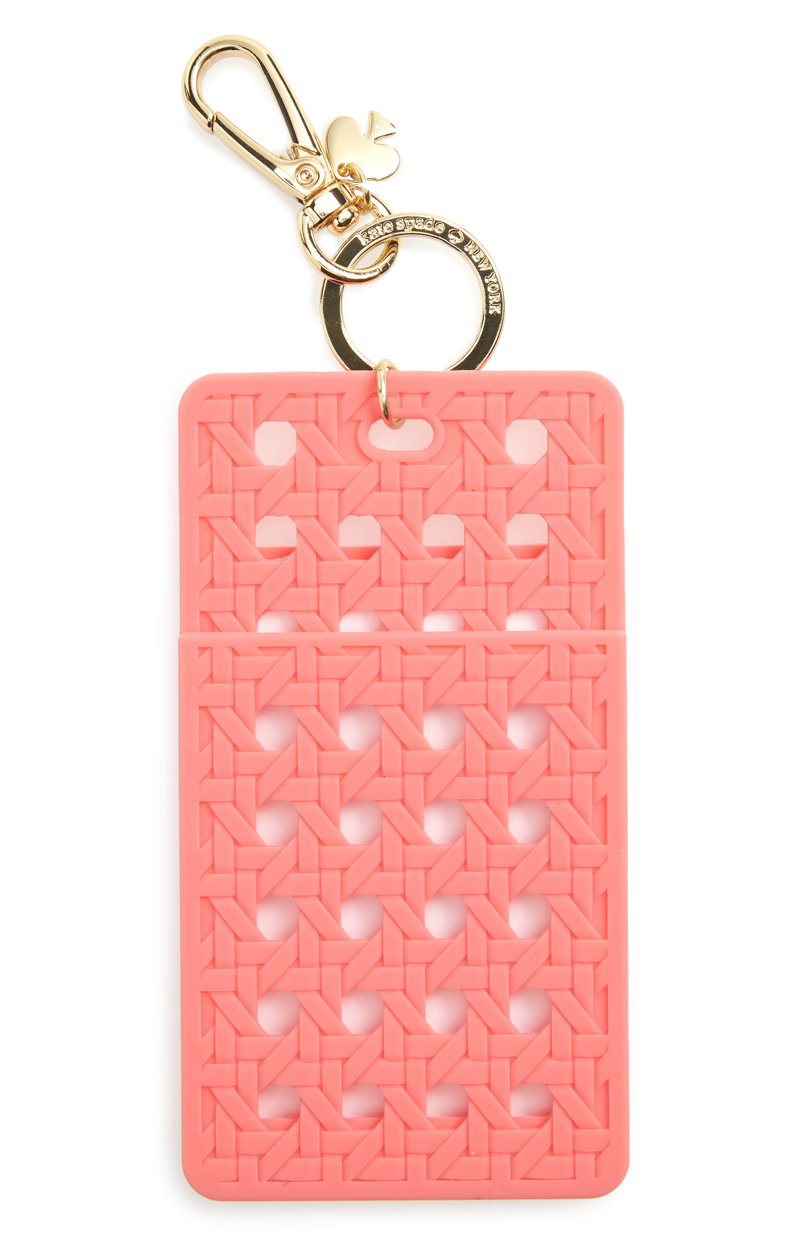 kate spade new york coral ID clip