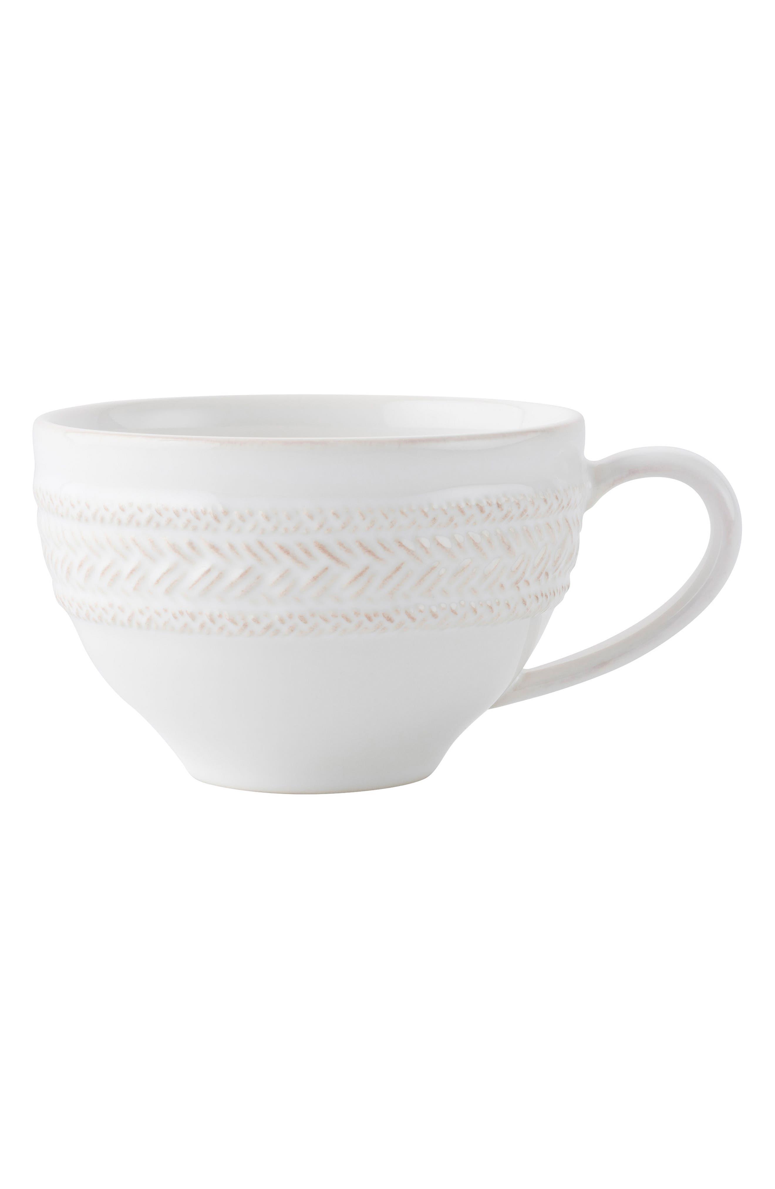 Le Panier Whitewash Coffee Cup,                             Main thumbnail 1, color,                             Whitewash