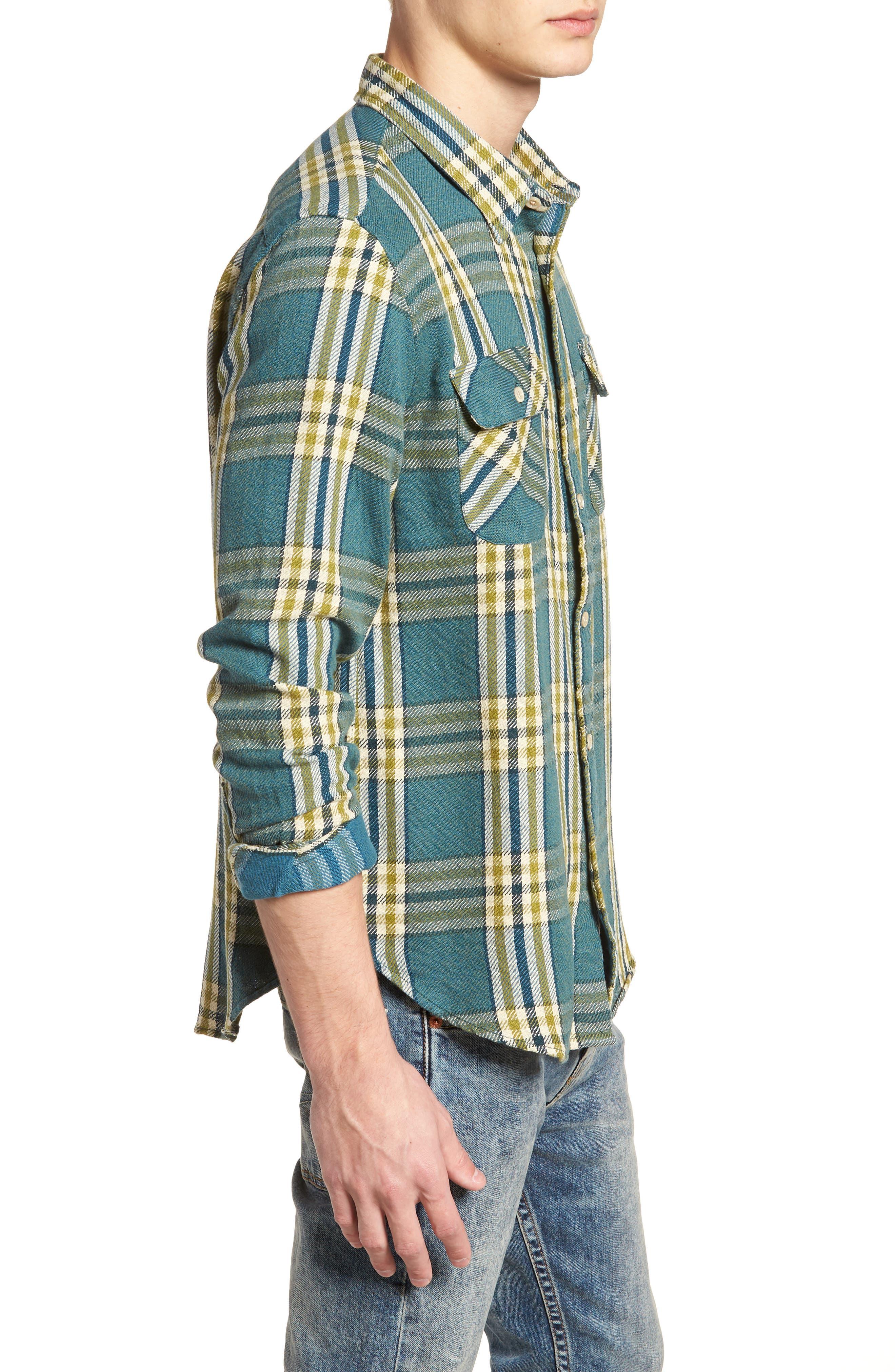 Shorthorn Western Shirt,                             Alternate thumbnail 4, color,                             Under Water Blue Multi