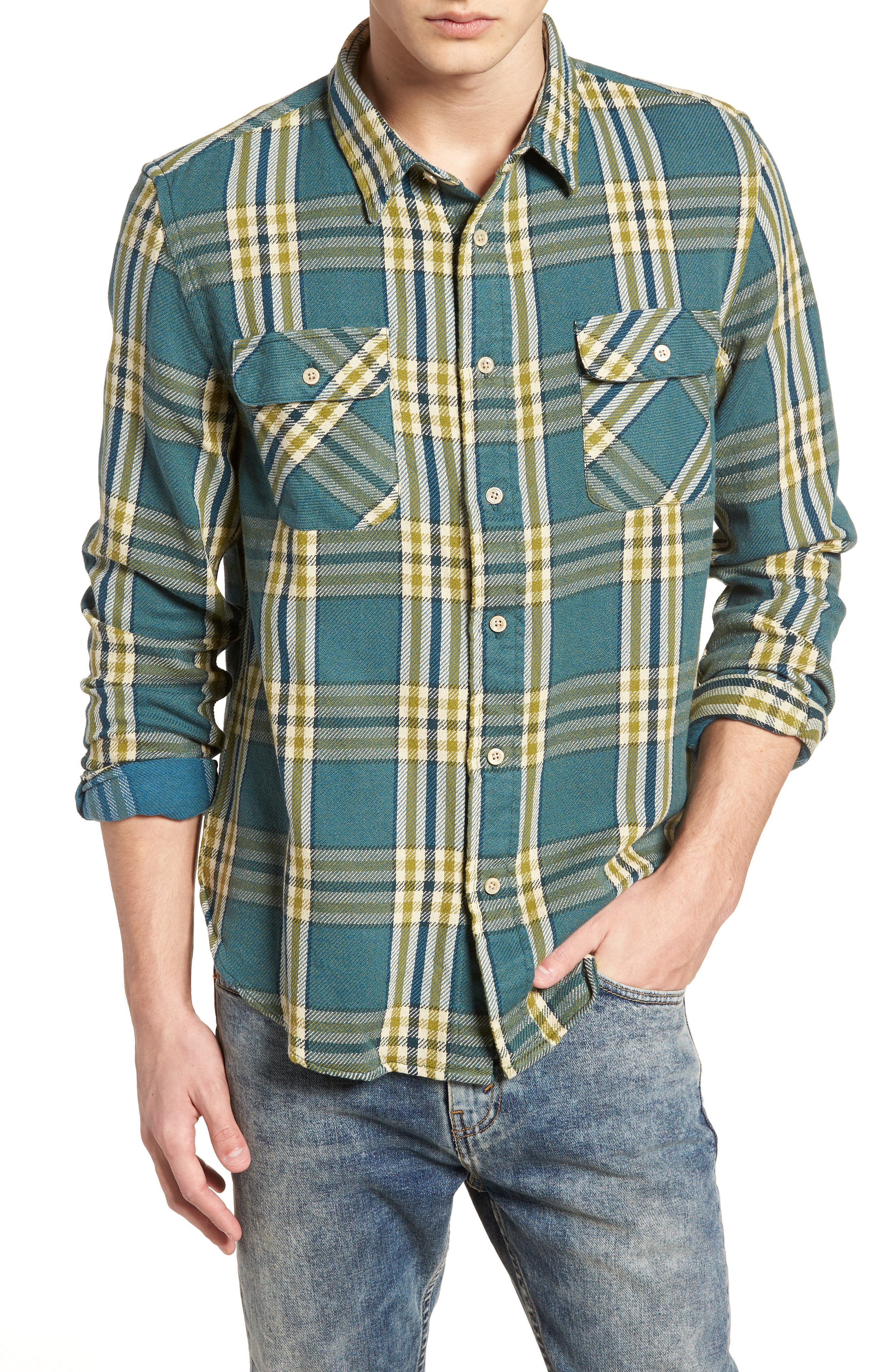 Shorthorn Western Shirt,                         Main,                         color, Under Water Blue Multi