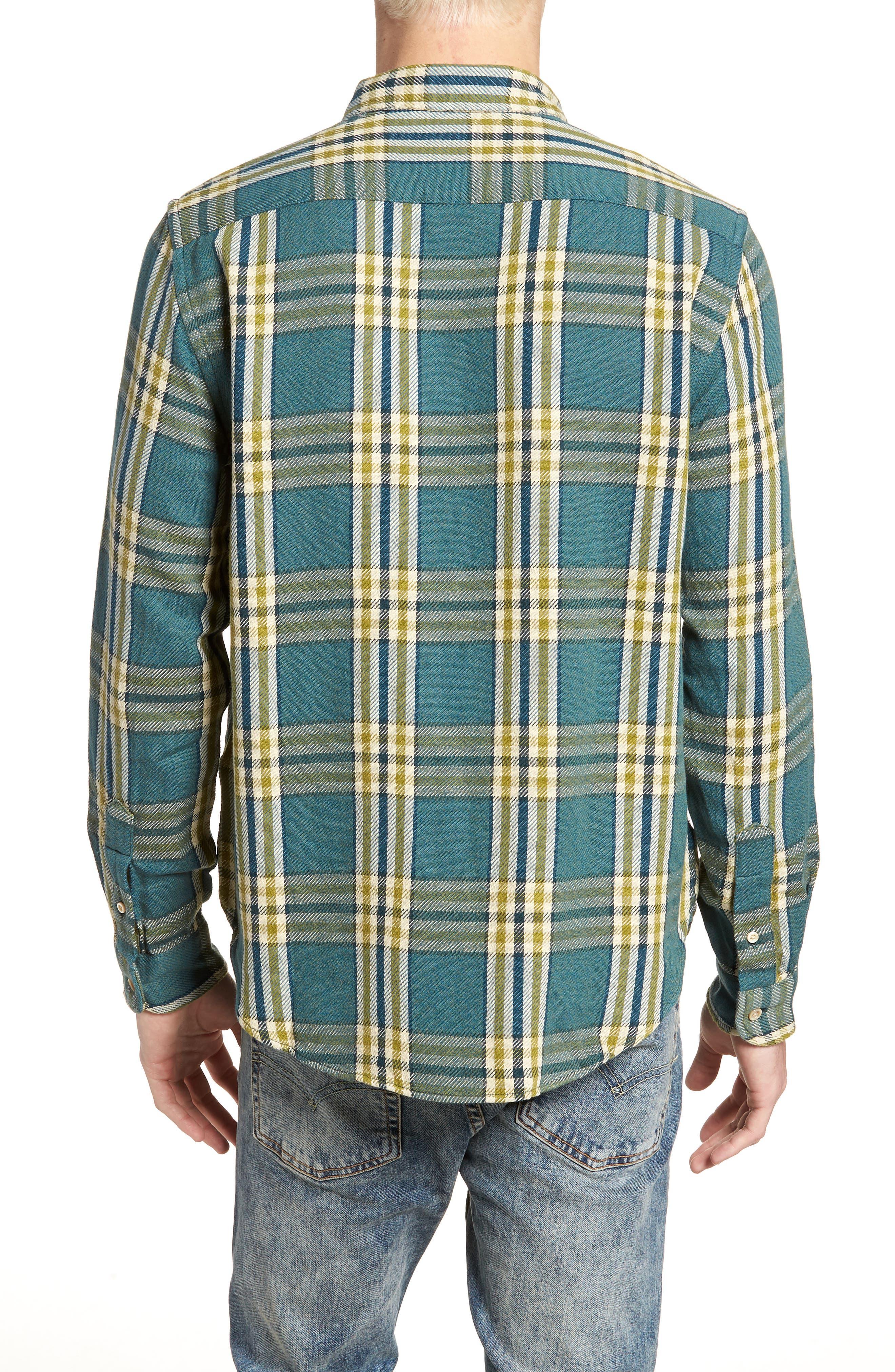 Shorthorn Western Shirt,                             Alternate thumbnail 3, color,                             Under Water Blue Multi