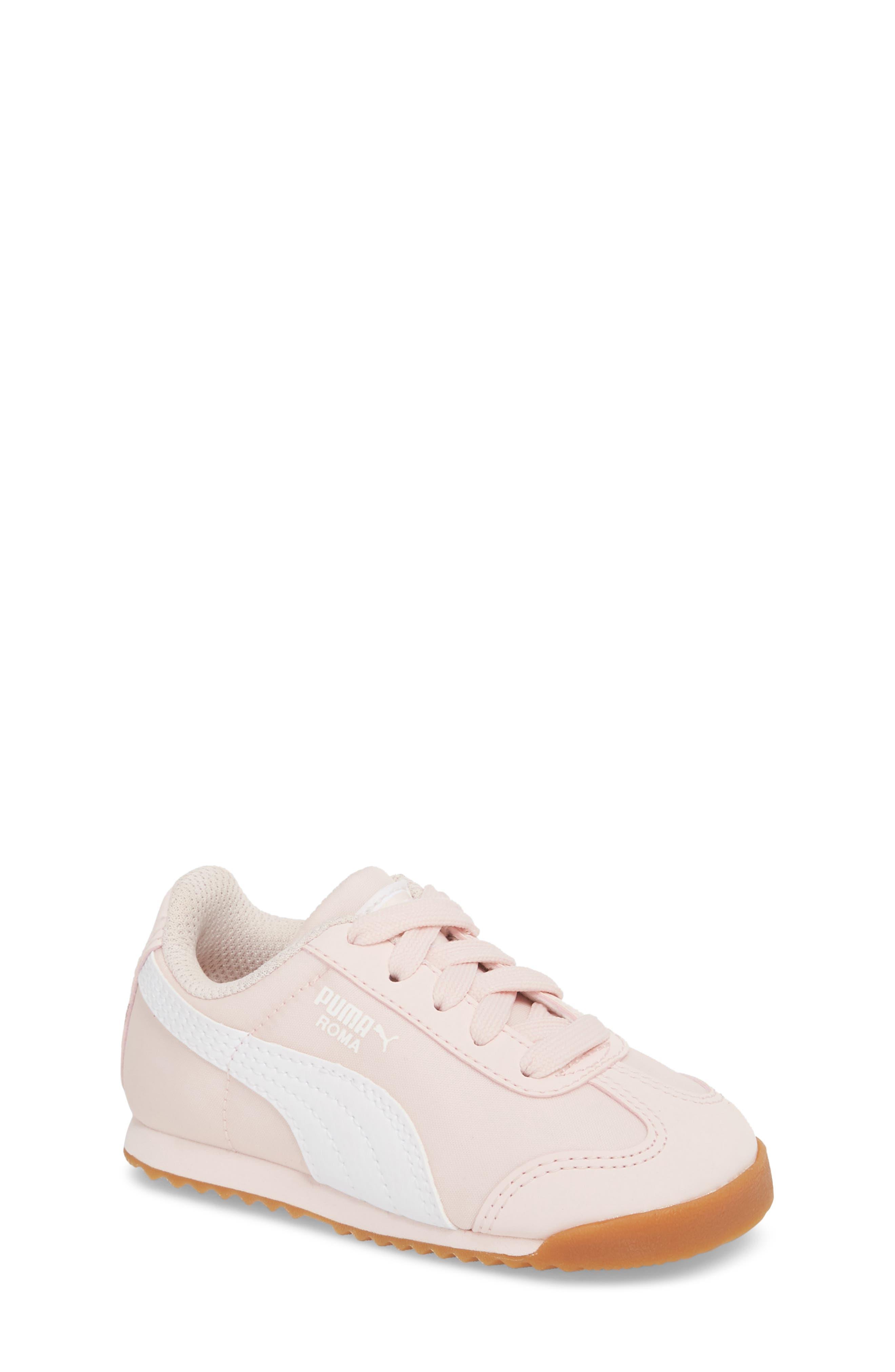 Roma Basic Summer Sneaker,                             Main thumbnail 1, color,                             Pearl/ White