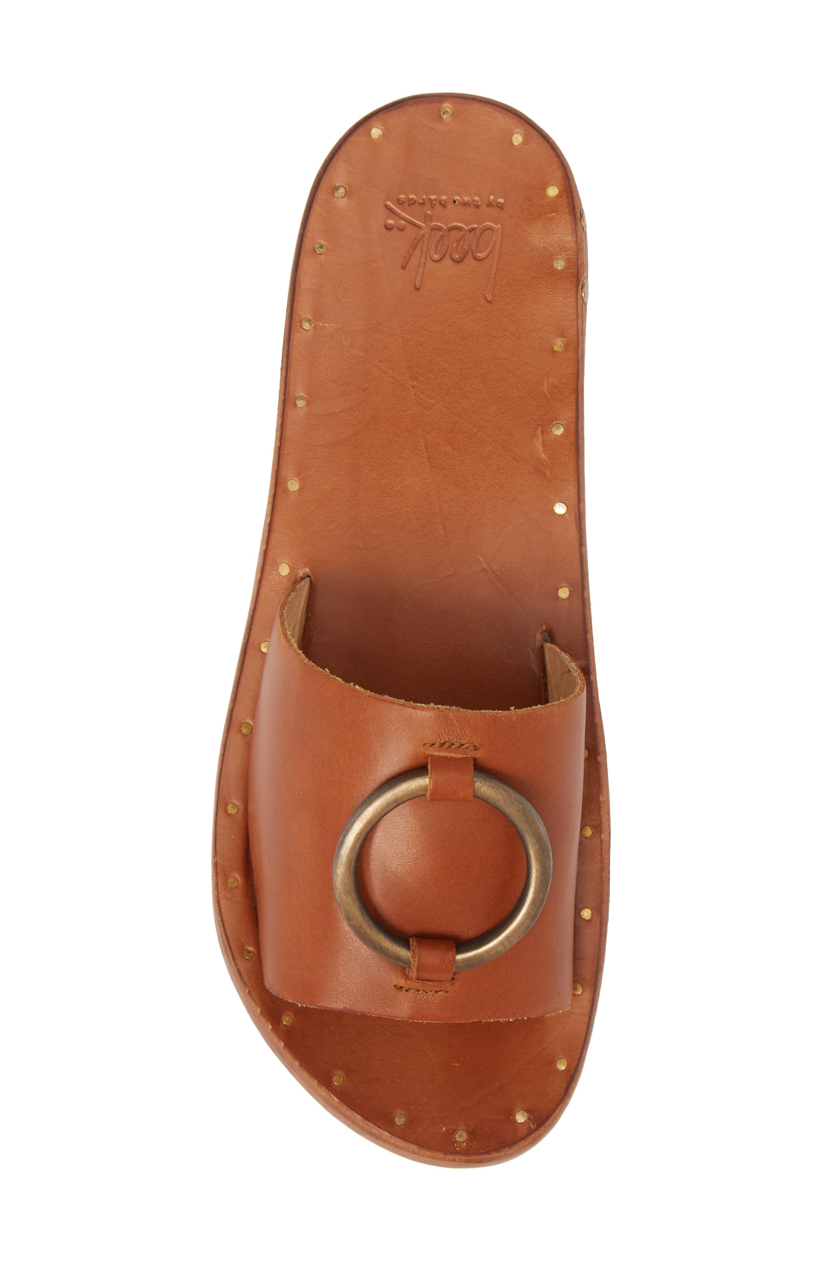 Cockatoo Slide Sandal,                             Alternate thumbnail 5, color,                             Tan/ Tan