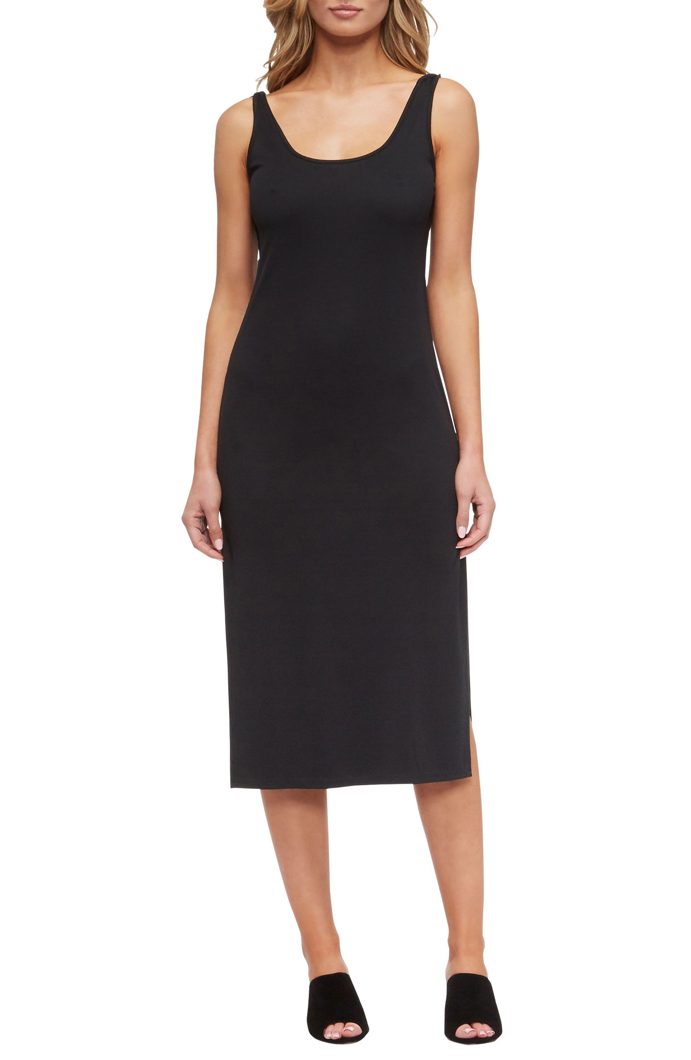 Icara Cover-Up Tank Dress,                             Main thumbnail 1, color,                             Black