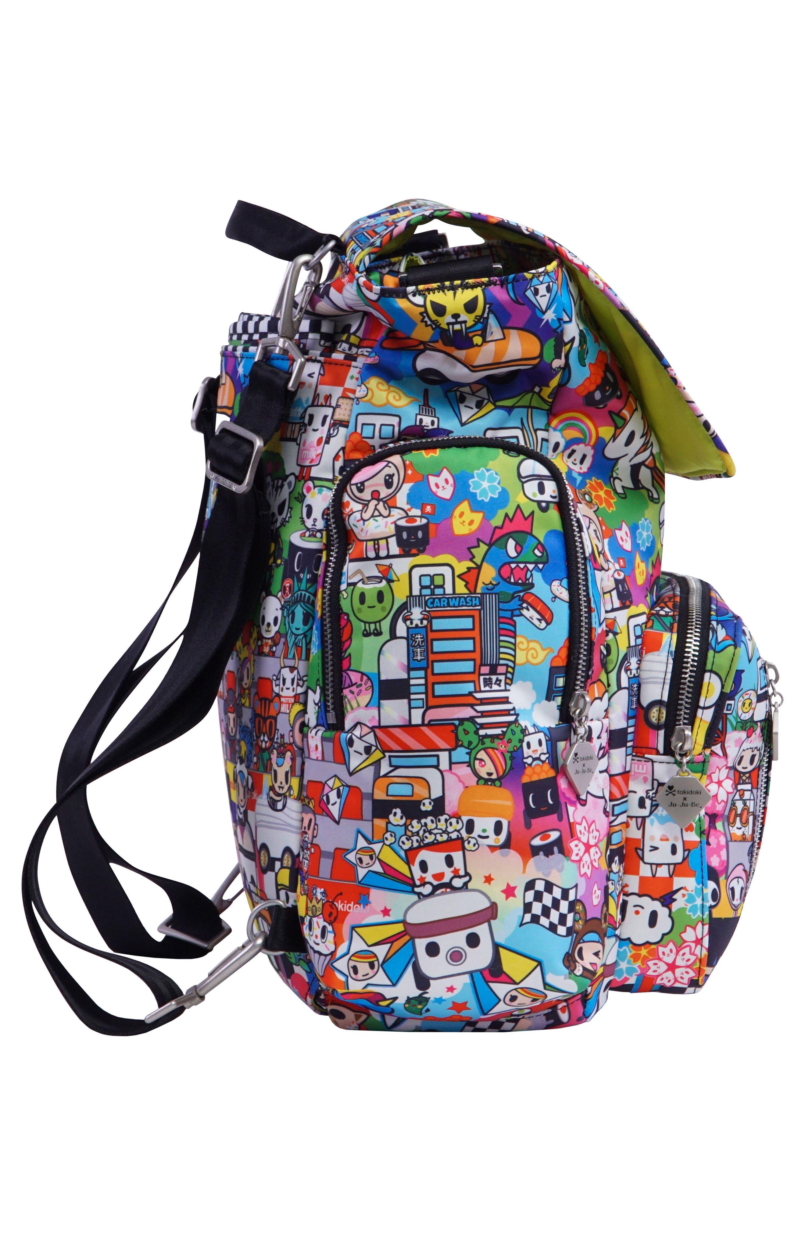 x tokidoki Be Sporty Diaper Backpack,                             Alternate thumbnail 3, color,                             Sushi Cars