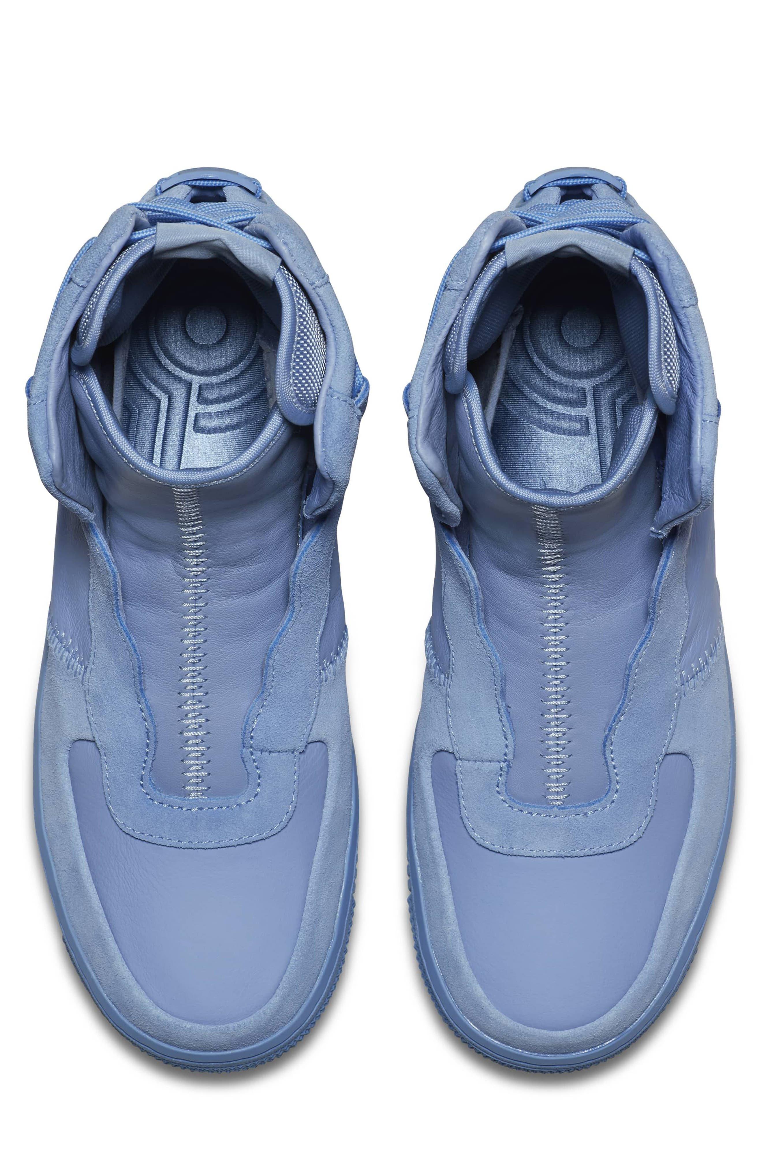 Air Force 1 Rebel XX High Top Sneaker,                             Alternate thumbnail 4, color,                             Light Blue