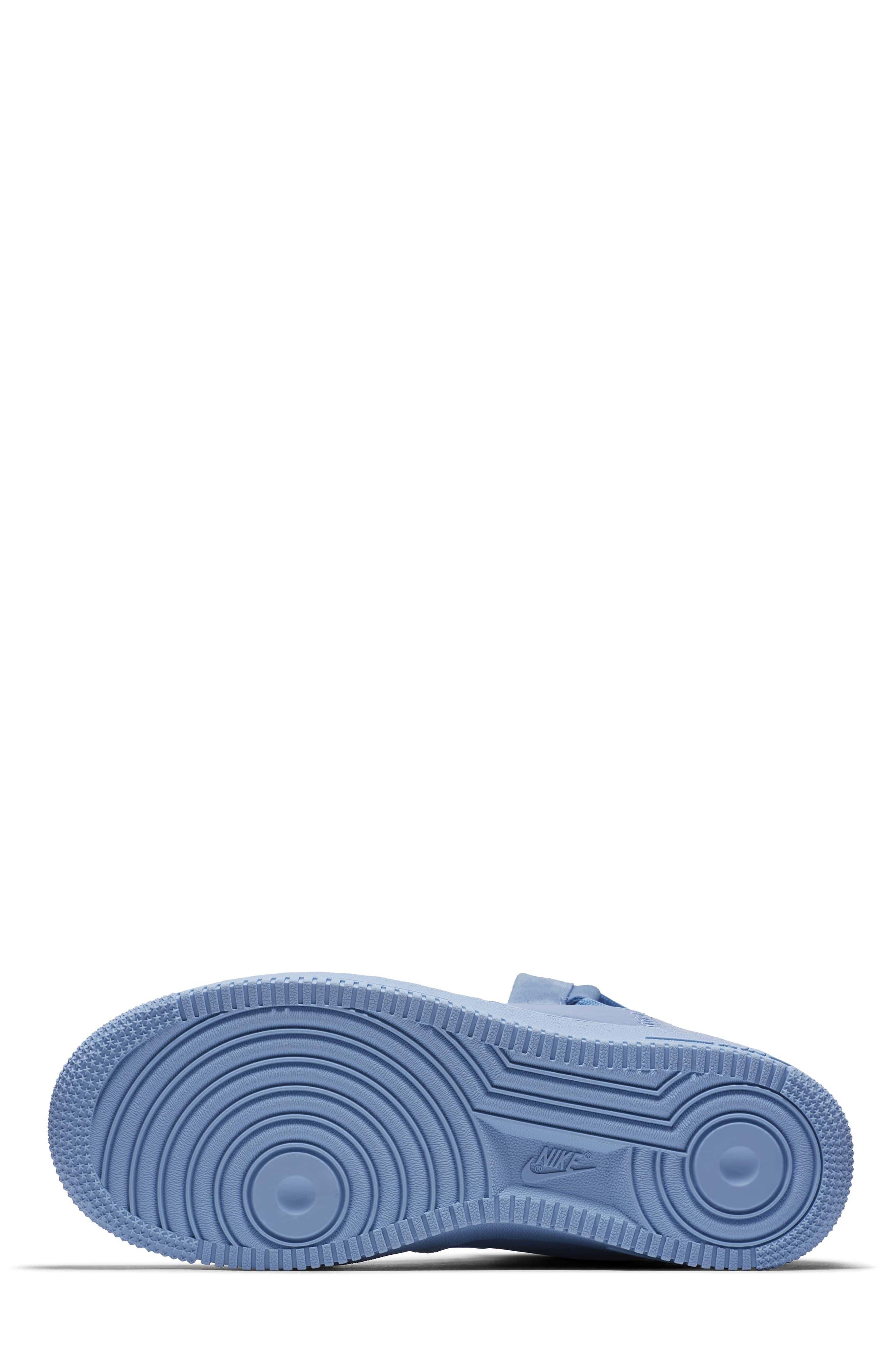 Air Force 1 Rebel XX High Top Sneaker,                             Alternate thumbnail 6, color,                             Light Blue