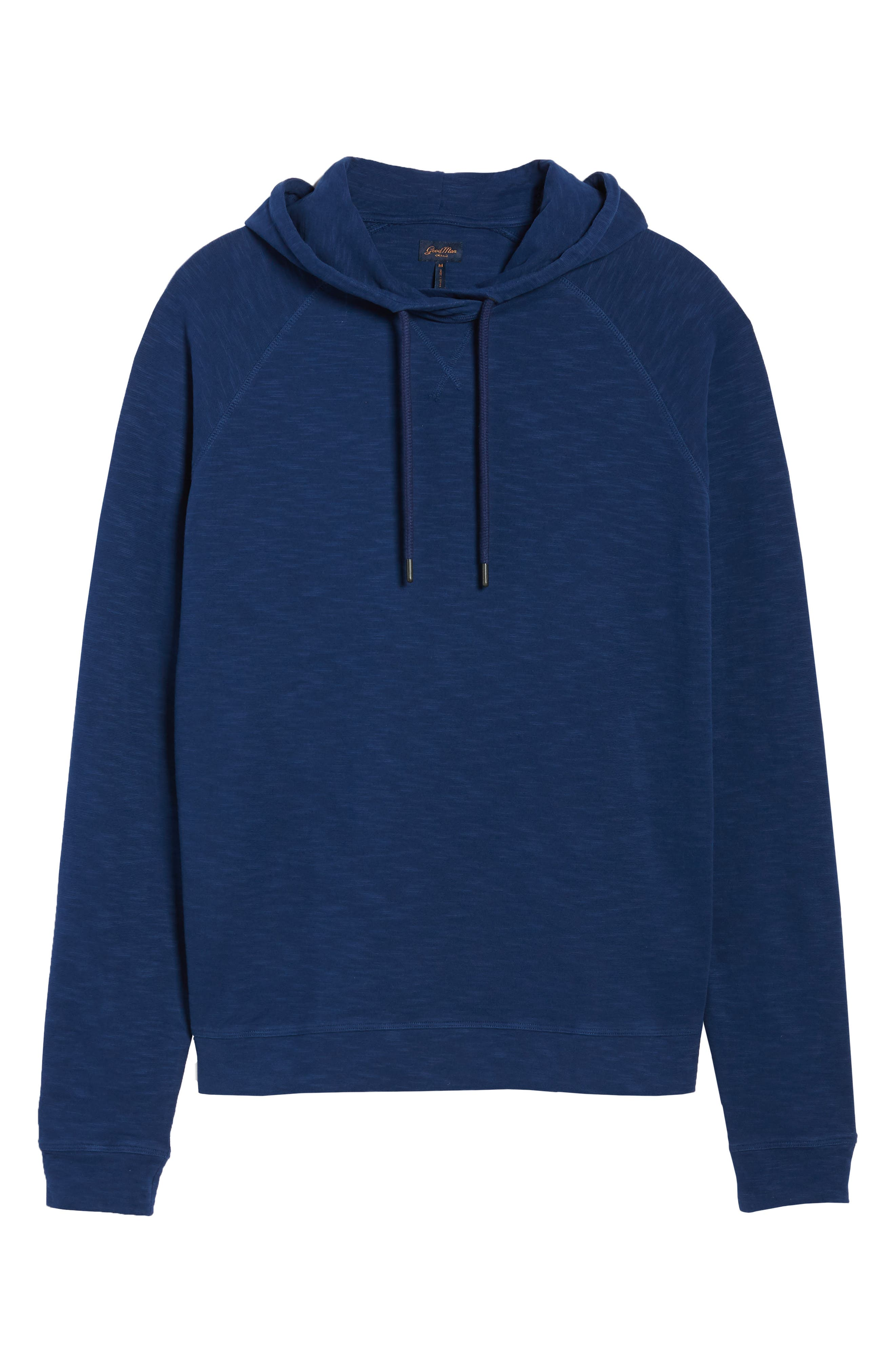 Trim Fit Pullover Hoodie,                             Alternate thumbnail 6, color,                             Blue