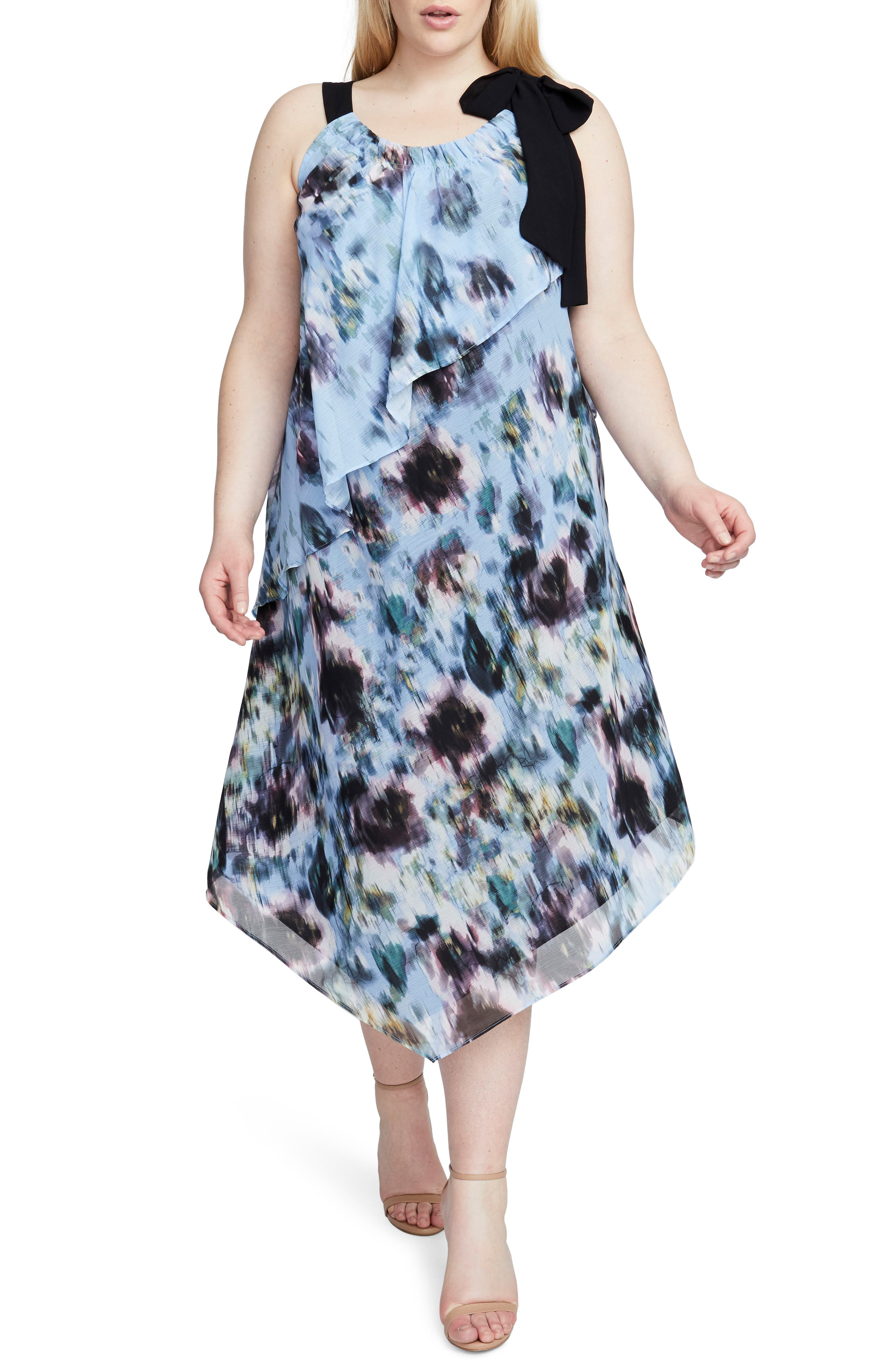 Floral Halter Scarf Dress,                             Main thumbnail 1, color,                             Multi Combo
