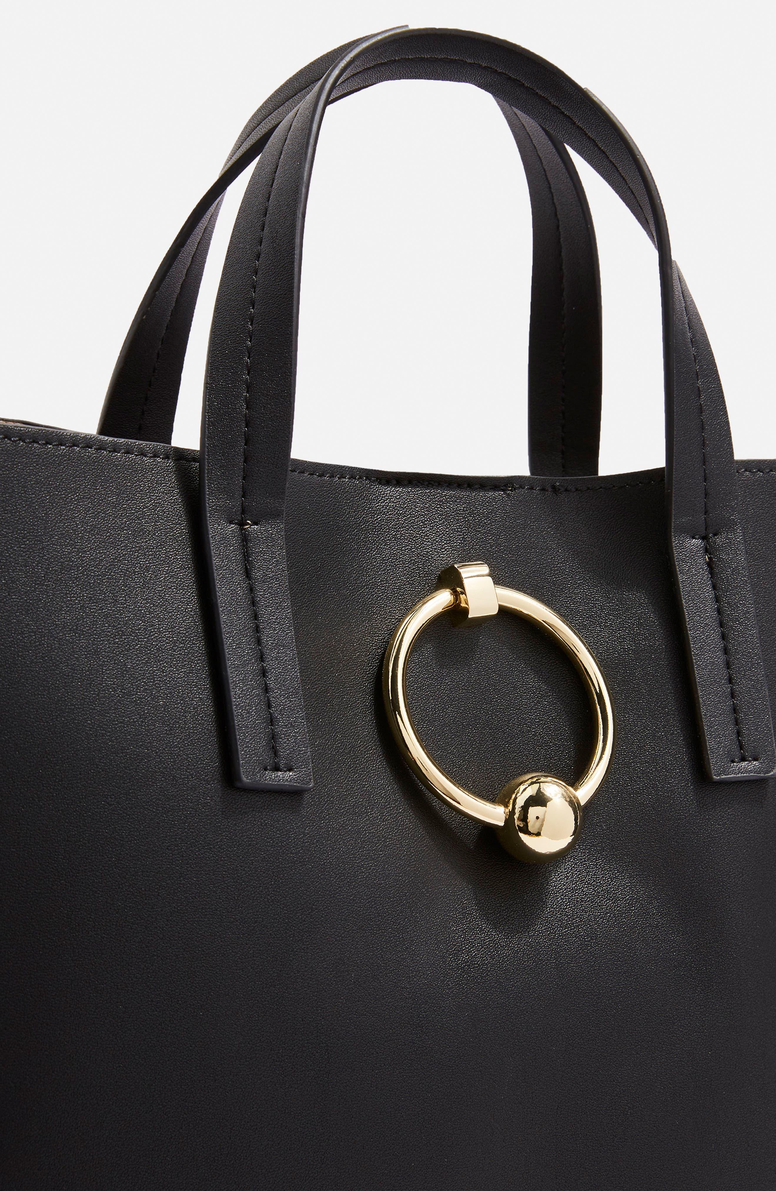 Seline Tote Bag,                             Alternate thumbnail 6, color,                             Black