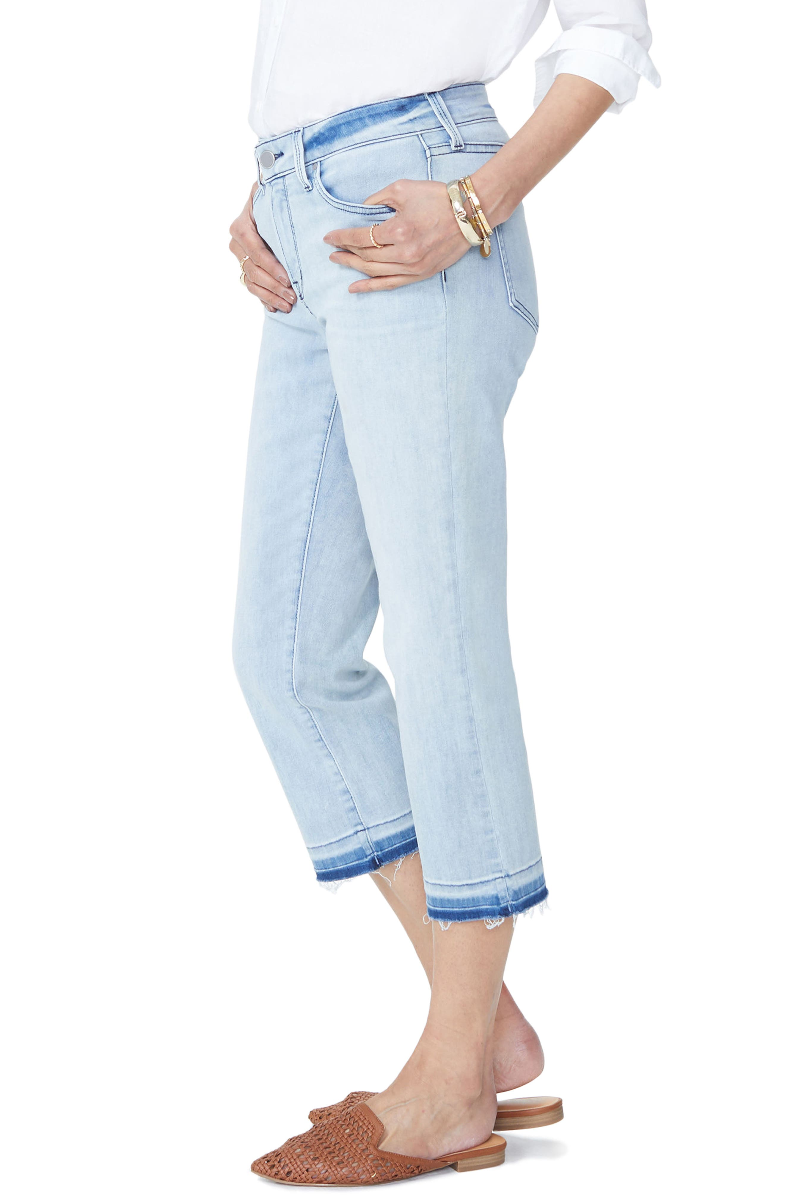 Bootcut Cropped Jeans with Released Hem,                             Alternate thumbnail 3, color,                             Stillwater