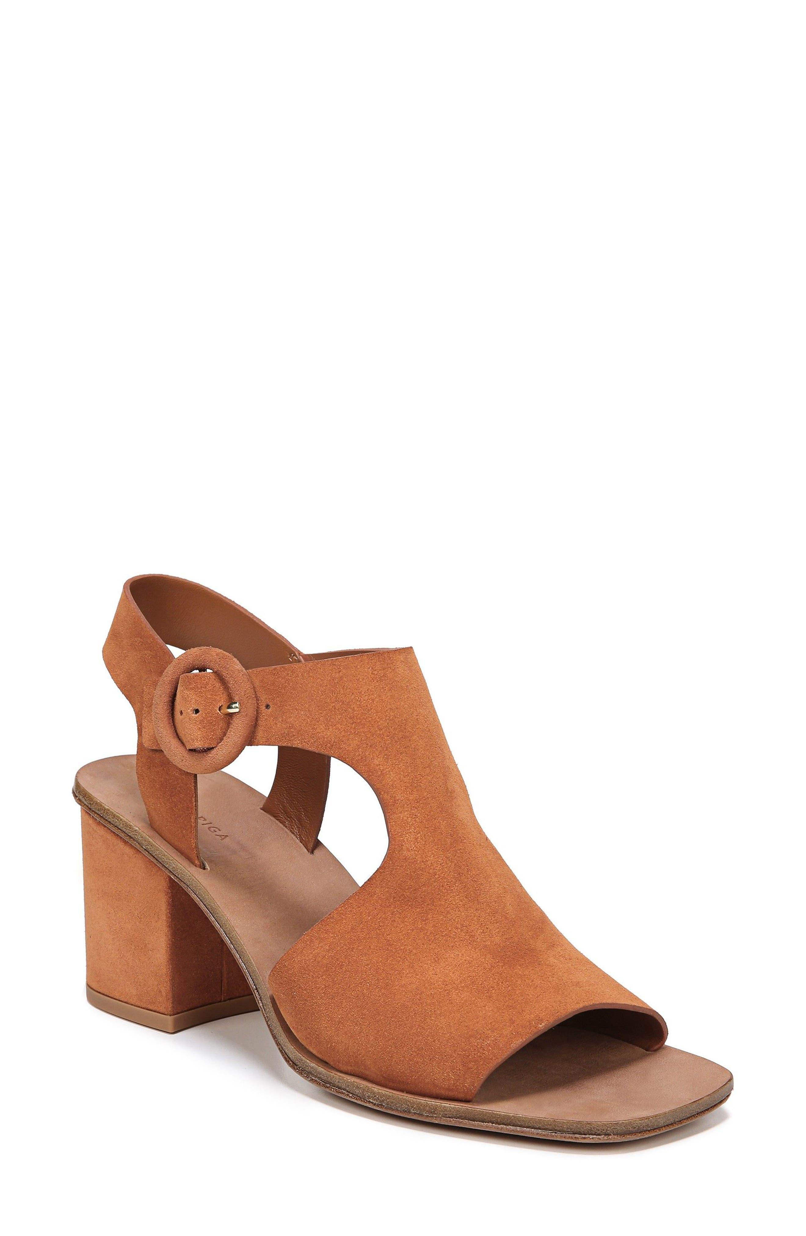 Katya Shield Sandal,                         Main,                         color, Amber Suede