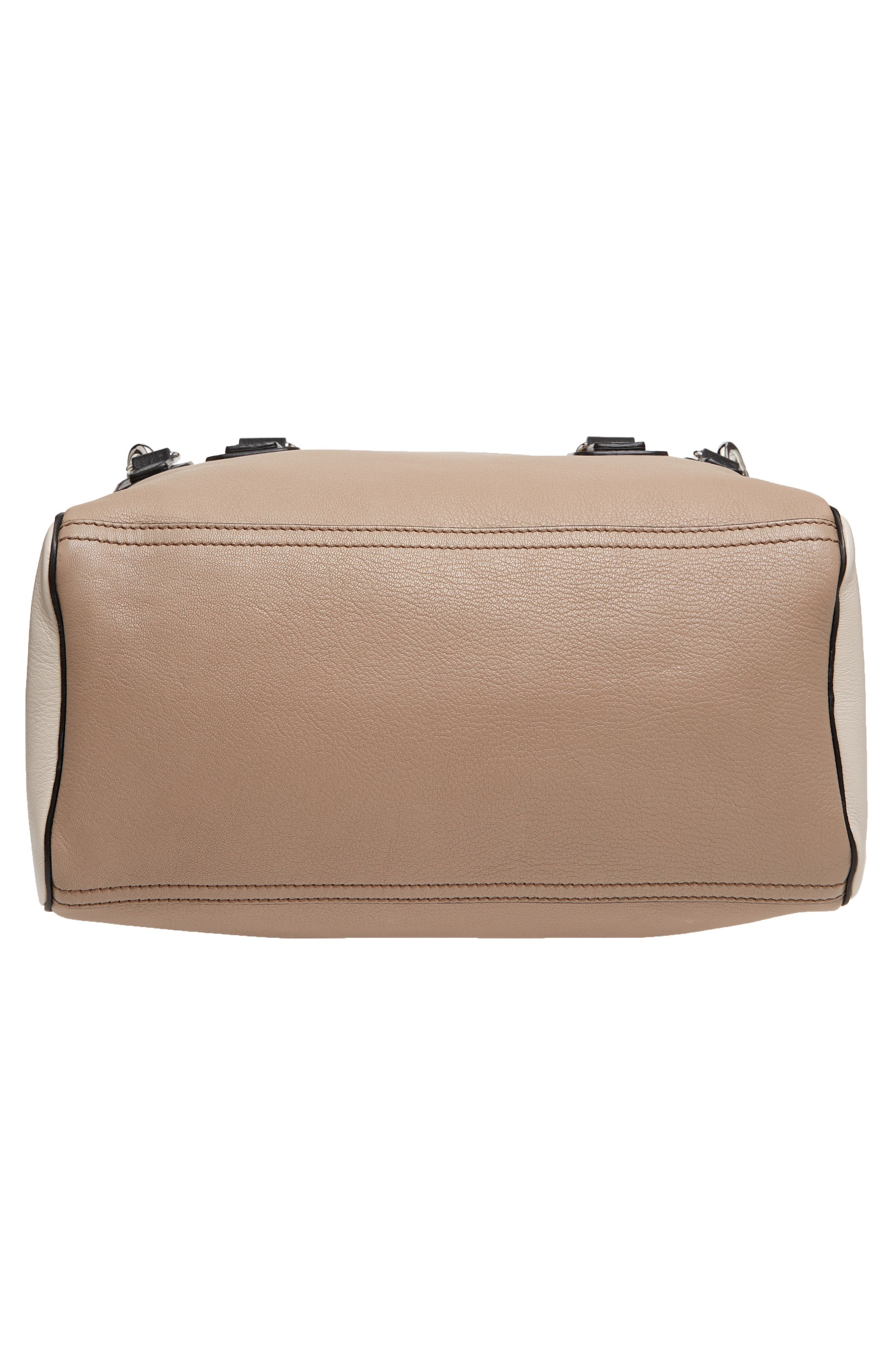 Medium Pandora Box Tricolor Leather Crossbody Bag,                             Alternate thumbnail 6, color,                             Linen