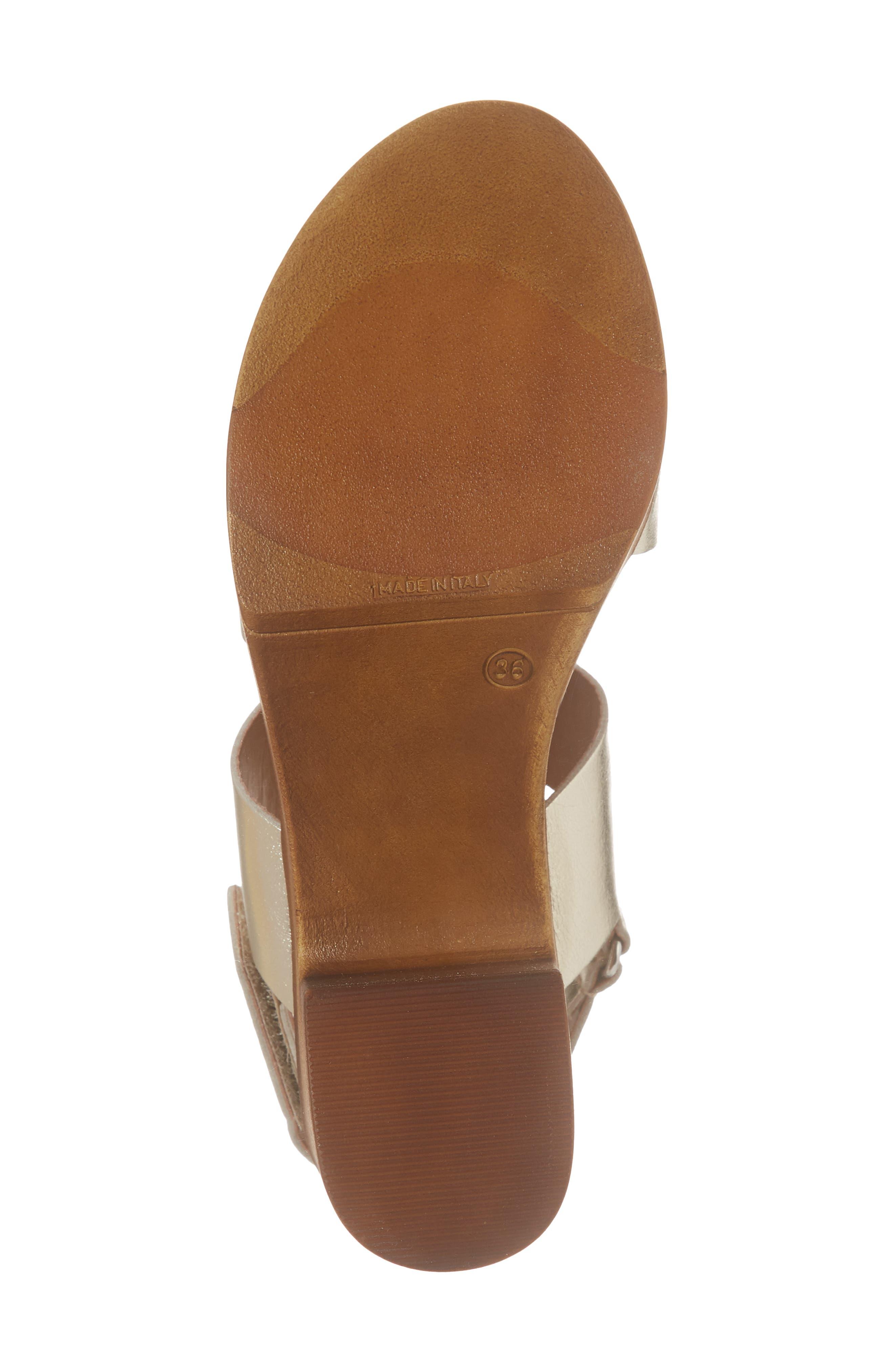 Marena Slingback Platform Sandal,                             Alternate thumbnail 6, color,                             Champagne