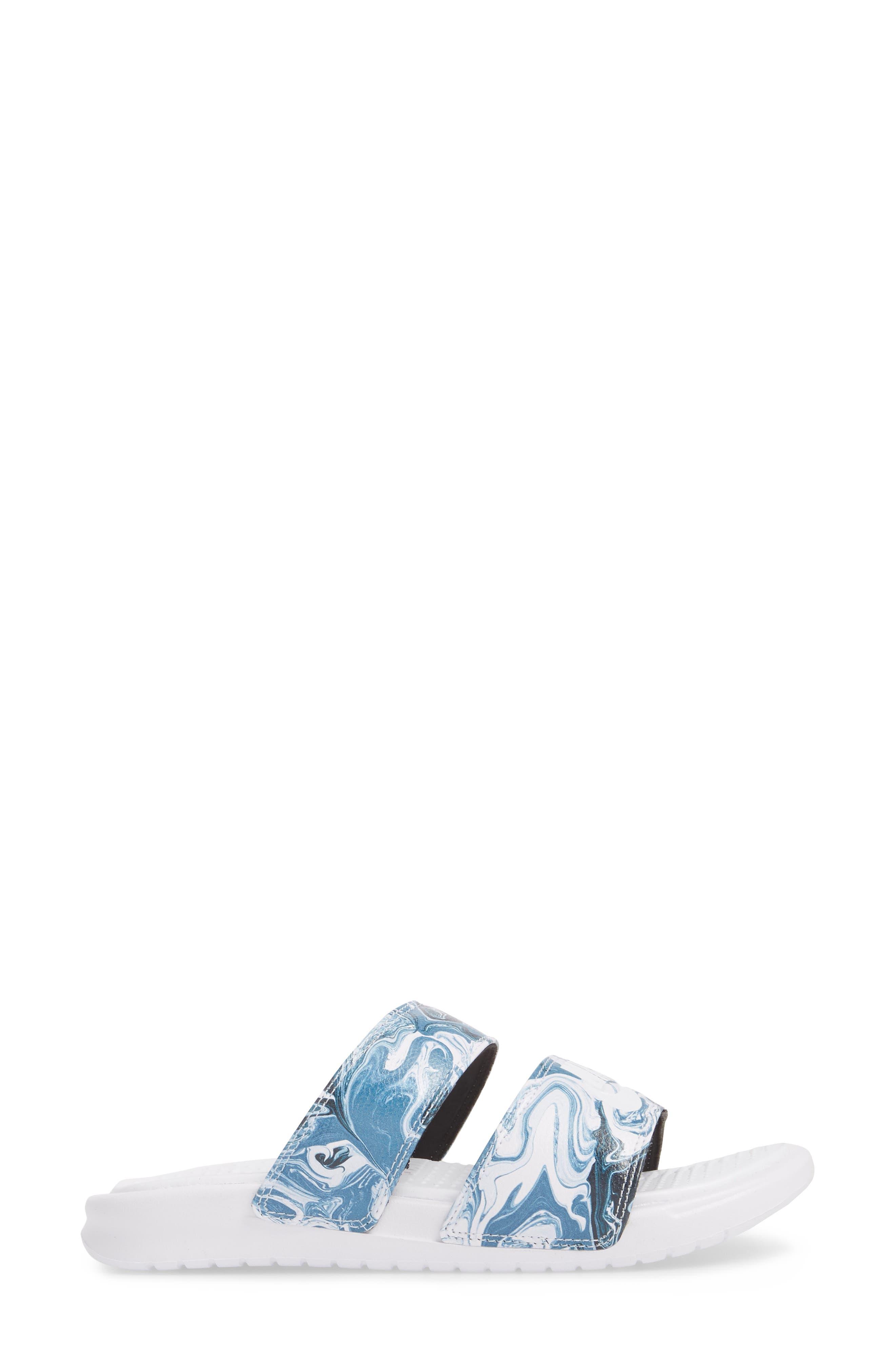 Benassi Duo Ultra Slide Sandal,                             Alternate thumbnail 3, color,                             Black/ White