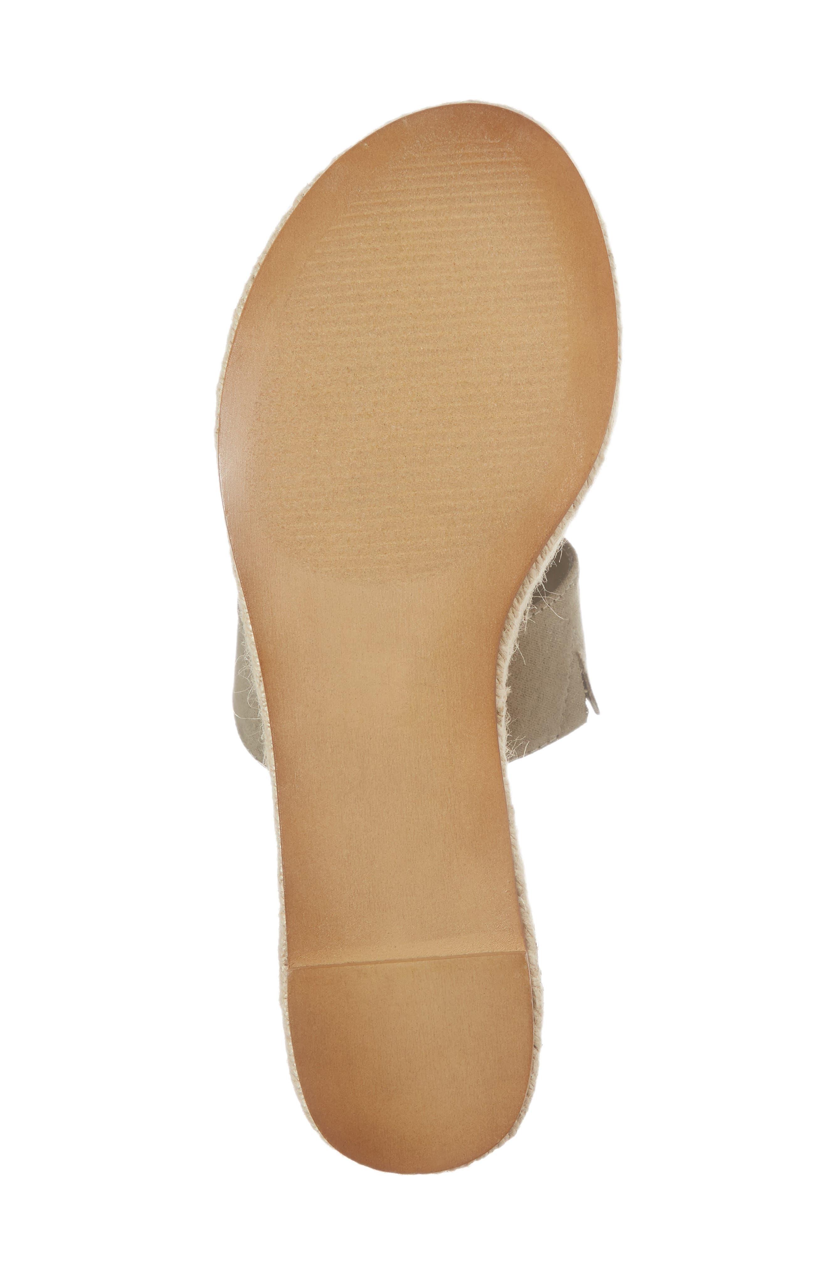 Foundation Platform Slide Sandal,                             Alternate thumbnail 6, color,                             Sage Suede