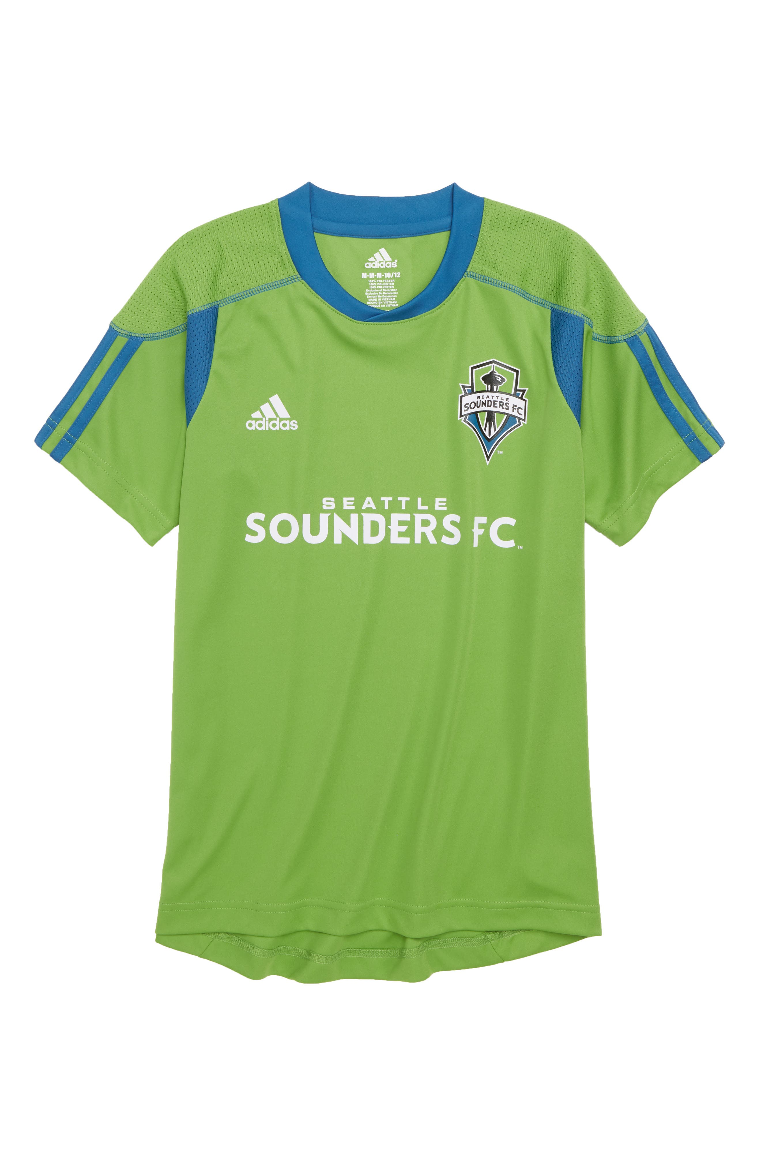 MLS Seattle Sounders FC Primary Logo Graphic T-Shirt,                             Main thumbnail 1, color,                             Rave Green