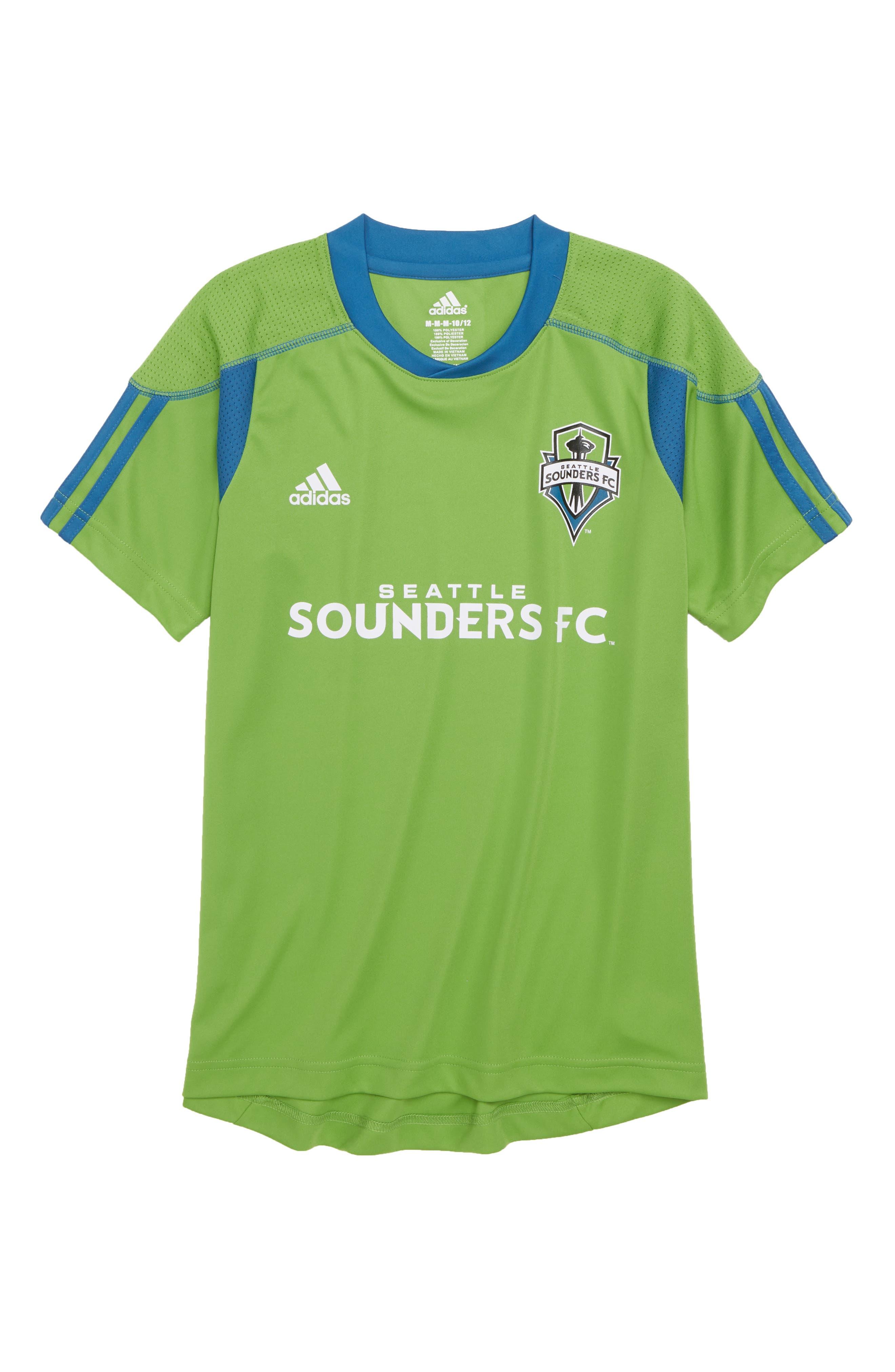 adidas MLS Seattle Sounders FC Primary Logo Graphic T-Shirt (Big Boys)