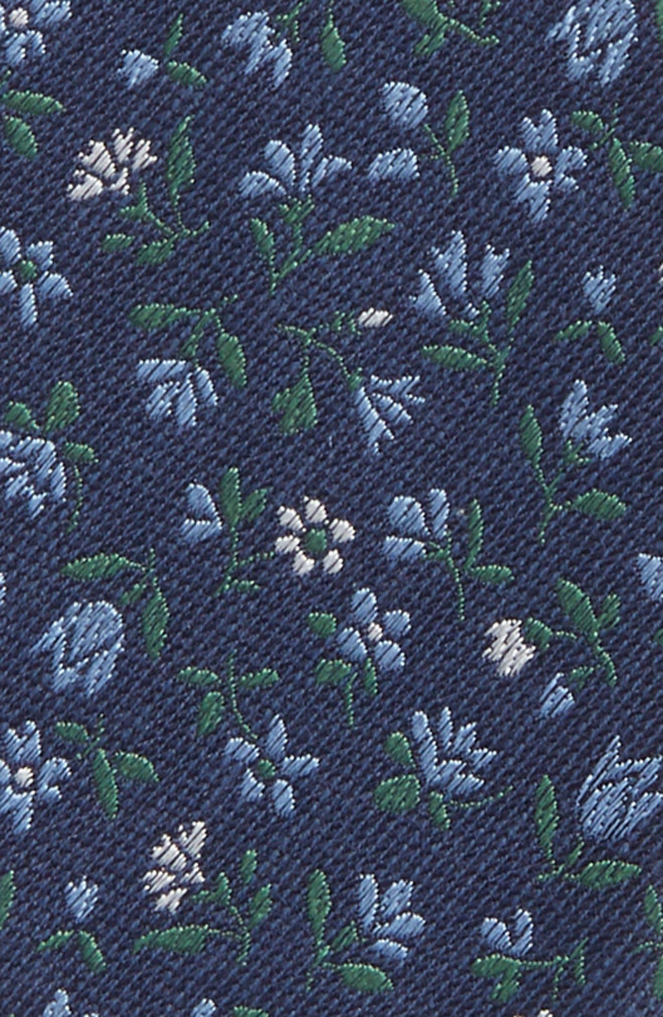 Floral Acres Bow Tie,                             Alternate thumbnail 3, color,                             Navy