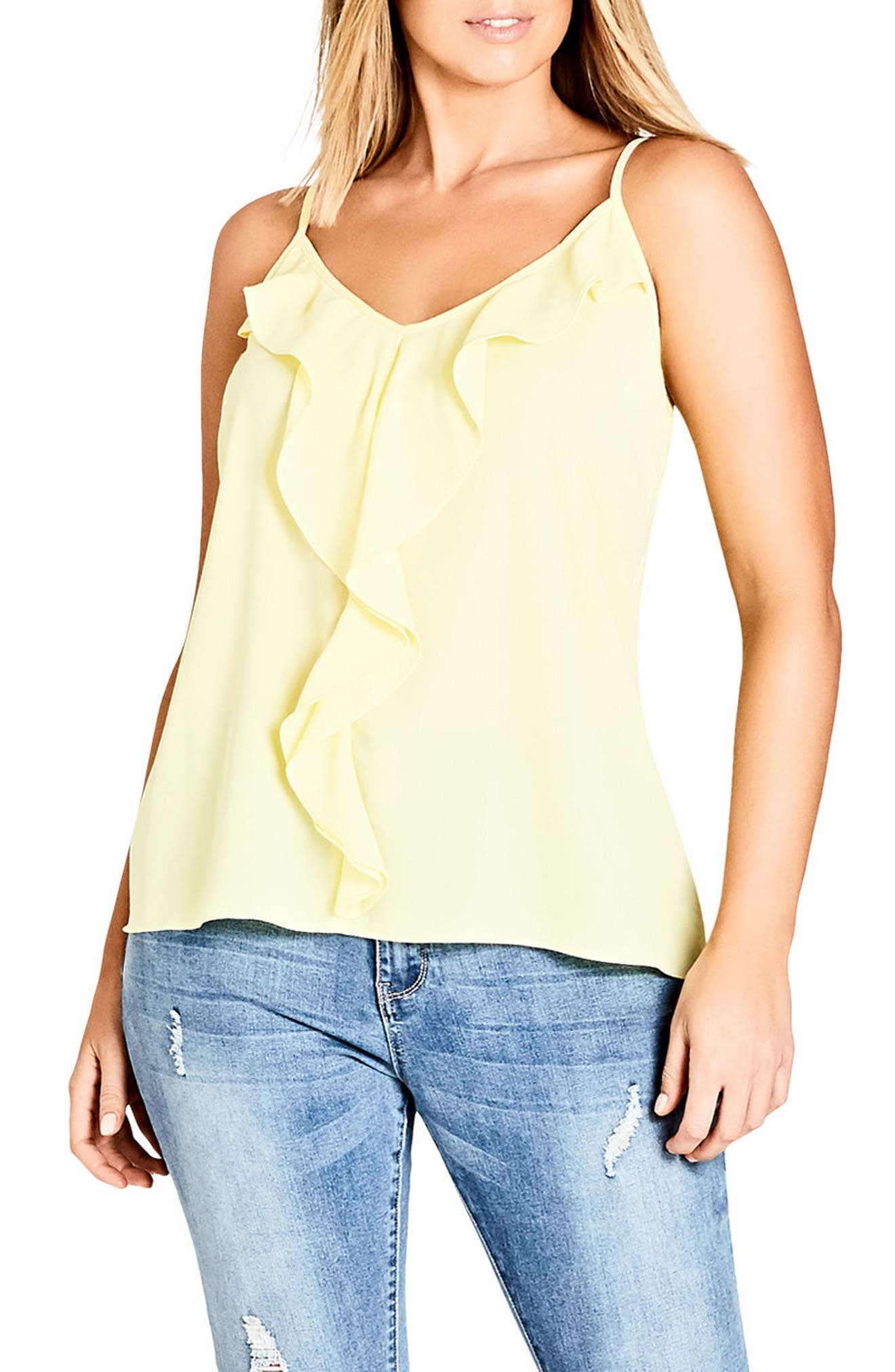 Luna Camisole,                         Main,                         color, Lemon
