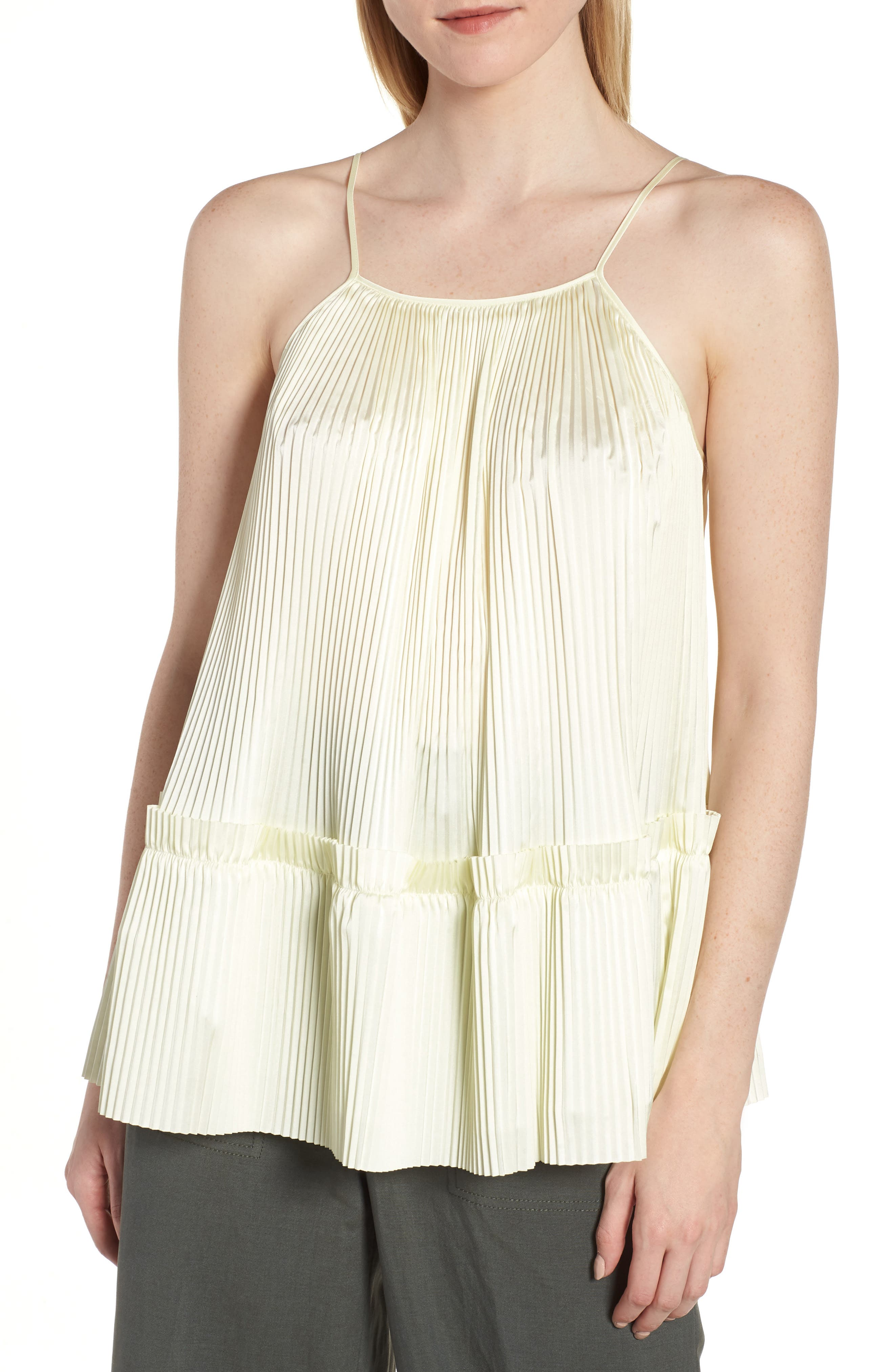 Lewit Pleated Swing Tank Top