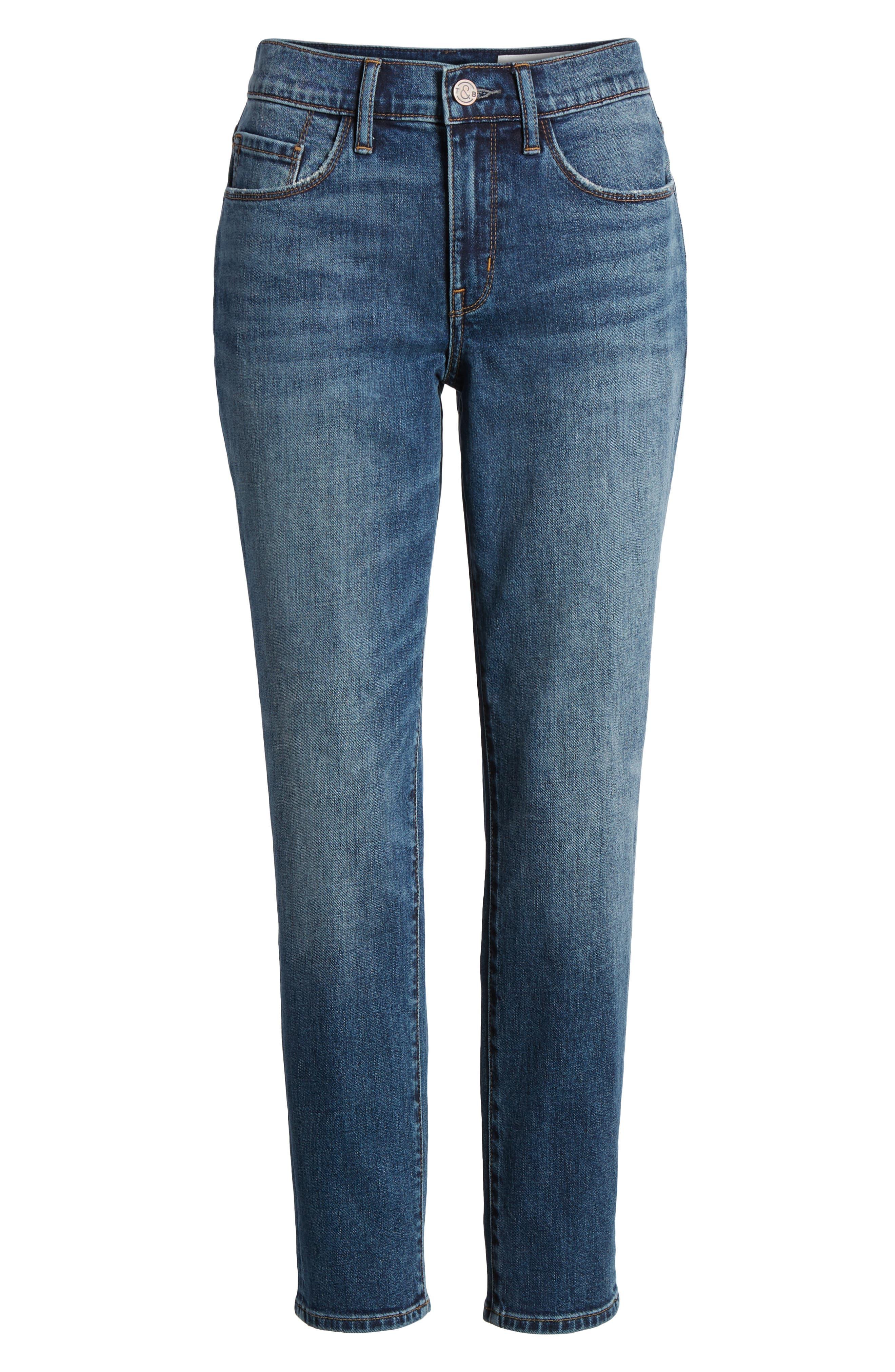 Alternate Image 6  - Treasure & Bond Grant Ankle Boyfriend Jeans (Gravel Dusk Vintage)