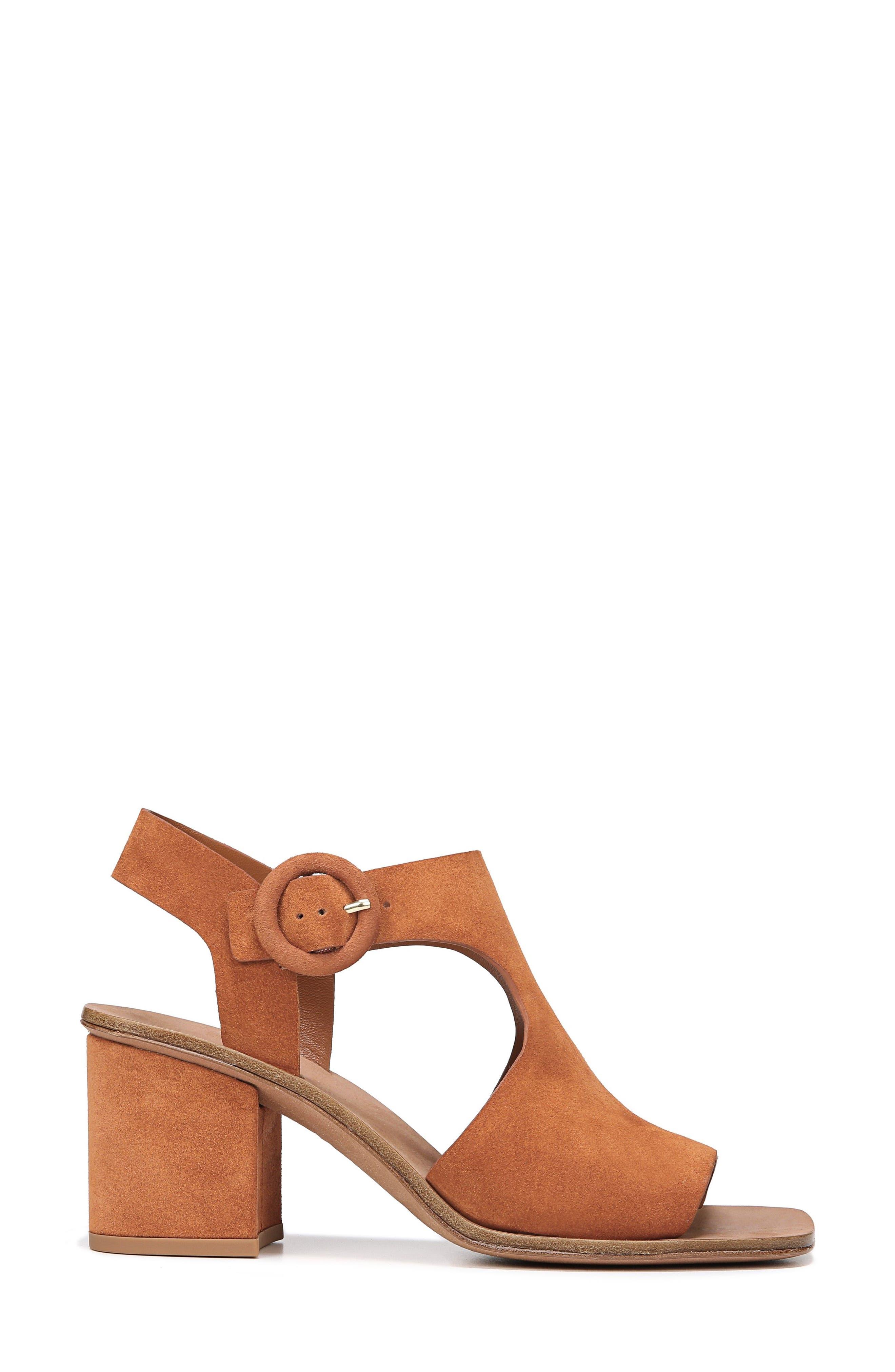 Katya Shield Sandal,                             Alternate thumbnail 3, color,                             Amber Suede