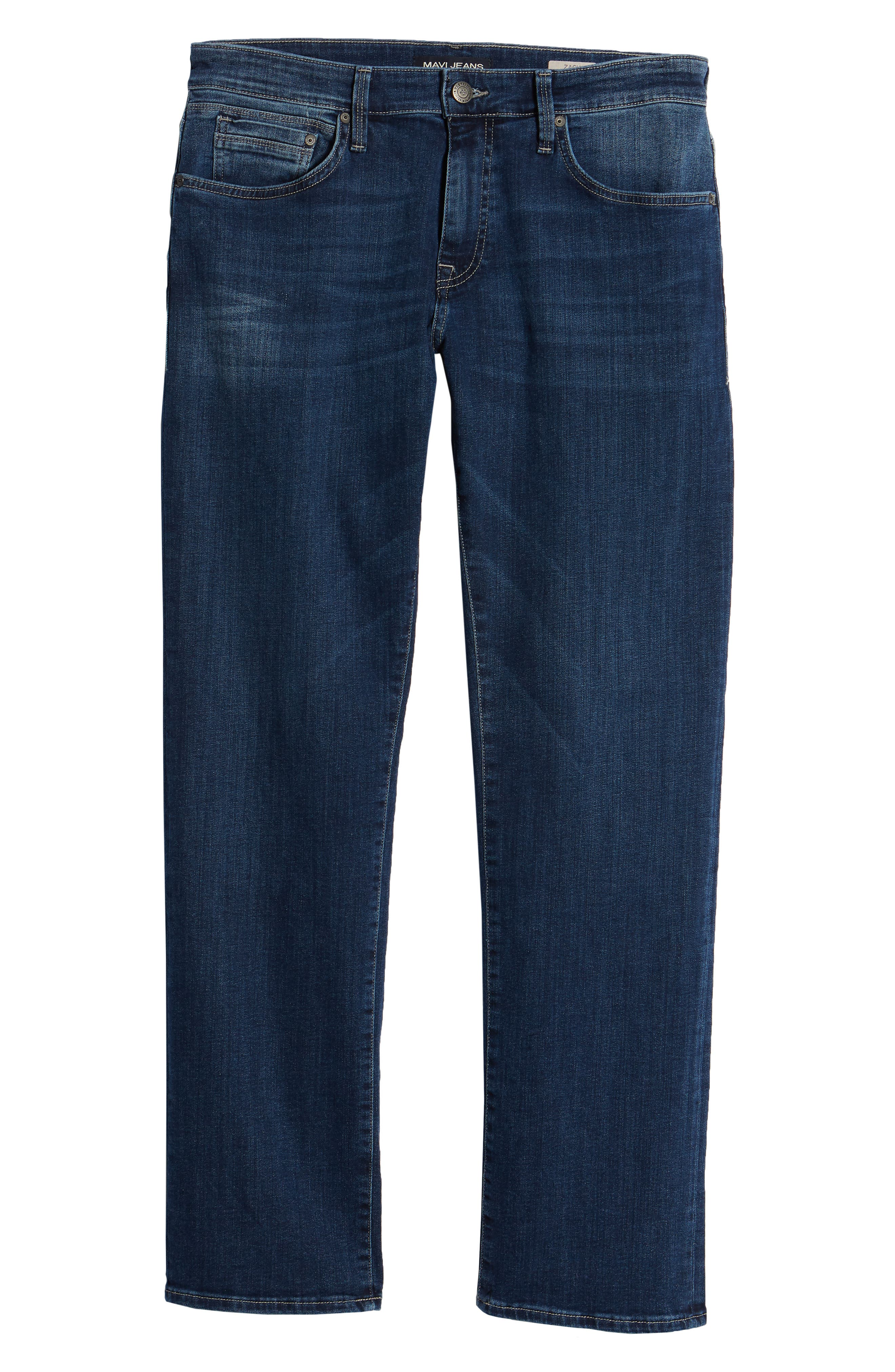 Zach Straight Leg Jeans,                             Alternate thumbnail 5, color,                             Dark Blue Williamsburg