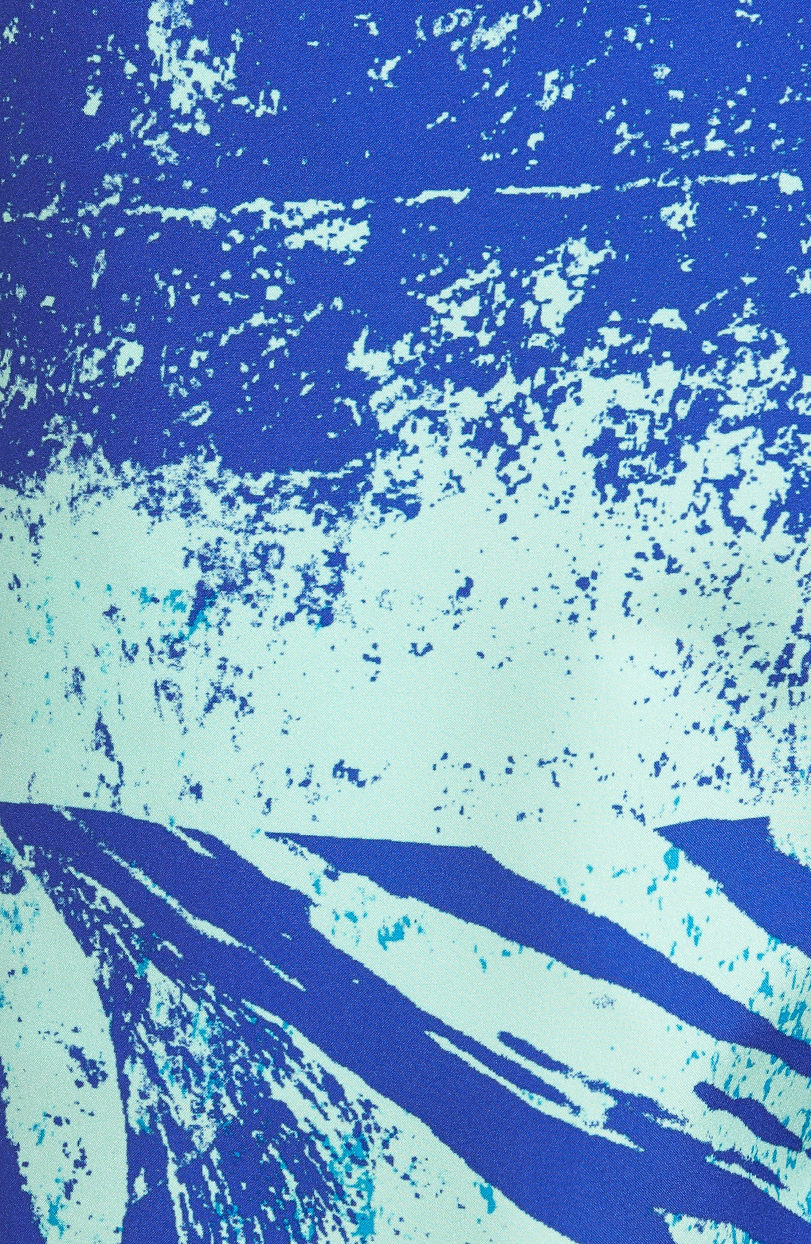 Banzai 9-Inch Swim Trunks,                             Alternate thumbnail 5, color,                             Screen Print Wave