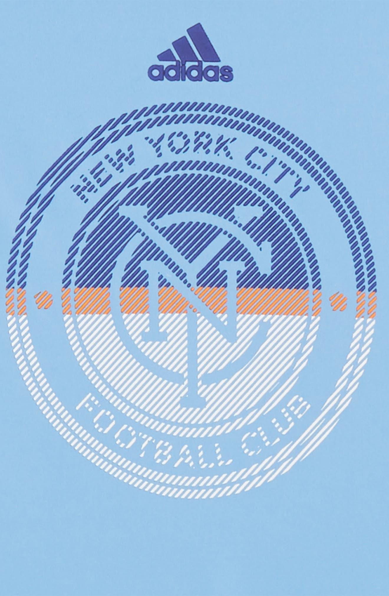 MLS New York City FC Climalite<sup>®</sup> T-Shirt,                             Alternate thumbnail 2, color,                             Bahia Blue