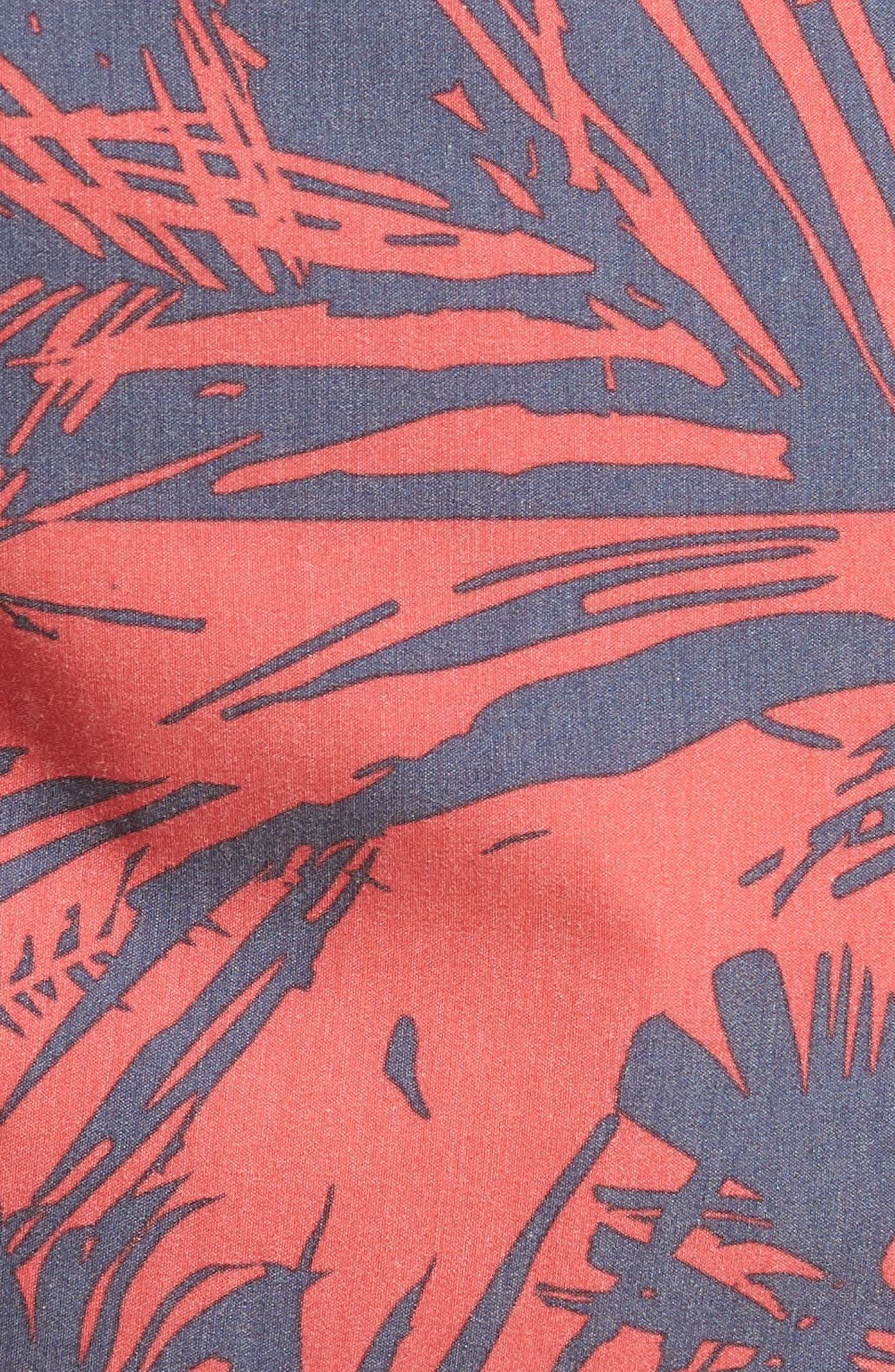 Inverted Cruzer Board Shorts,                             Alternate thumbnail 5, color,                             Faded Red