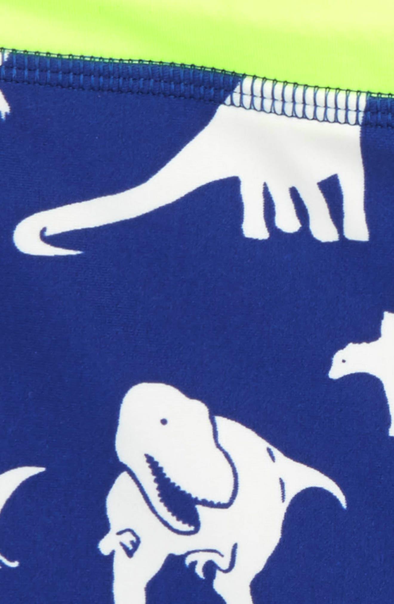Dino Swim Trunks,                             Alternate thumbnail 2, color,                             Royal Blue Roarsome Friends
