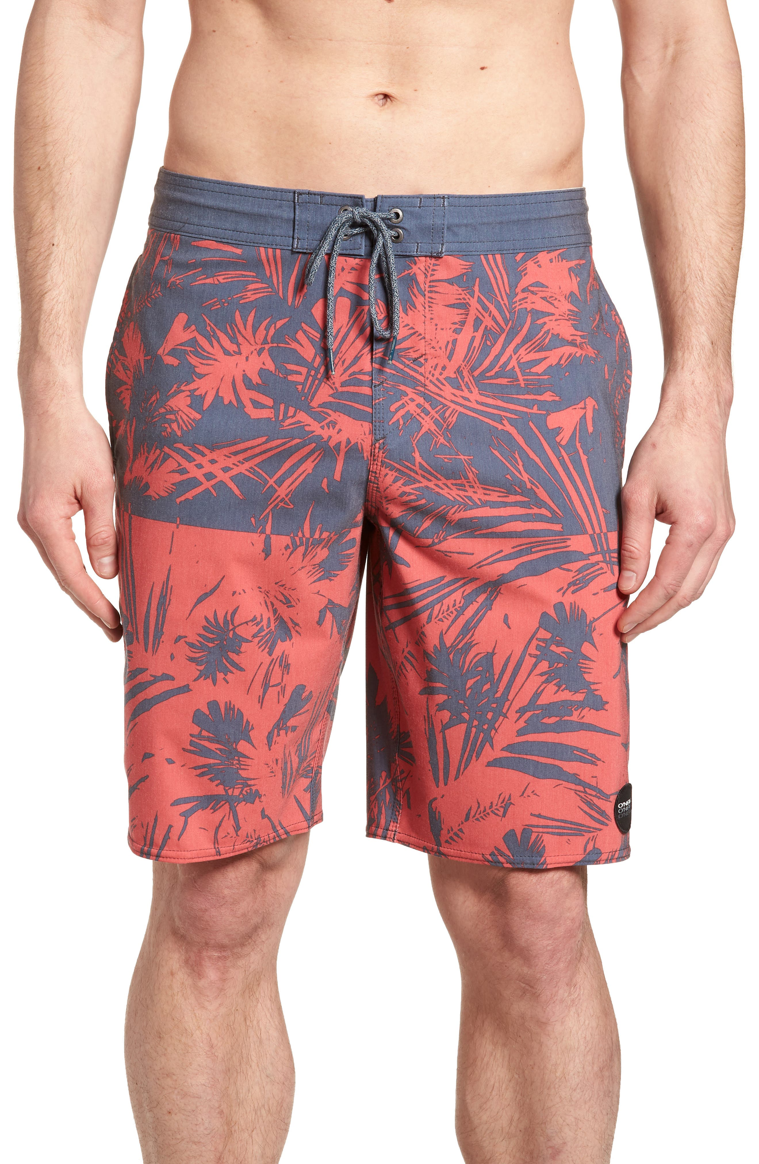 Inverted Cruzer Board Shorts,                             Main thumbnail 1, color,                             Faded Red