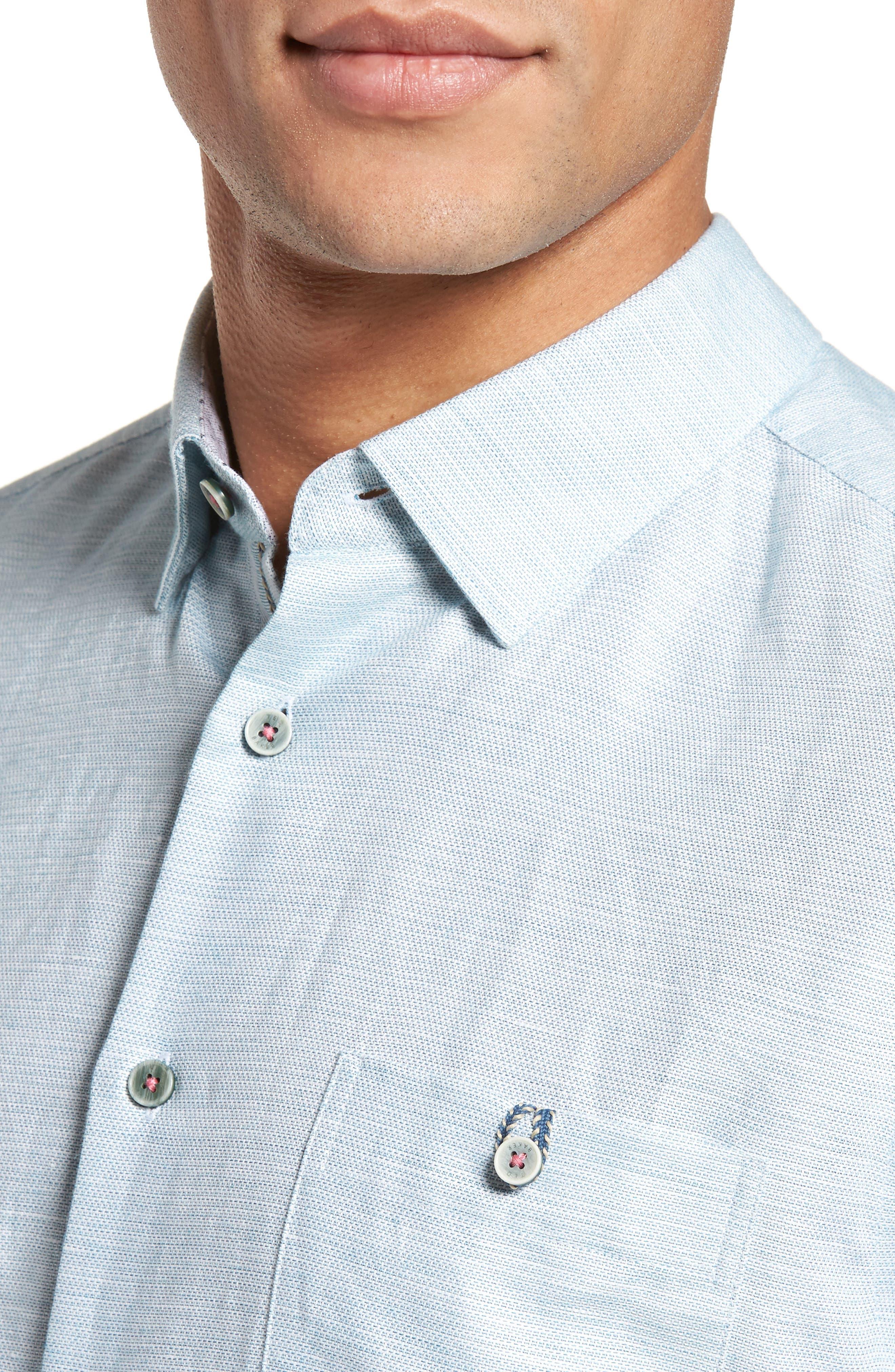 Peezett Short Sleeve Sport Shirt,                             Alternate thumbnail 4, color,                             Green