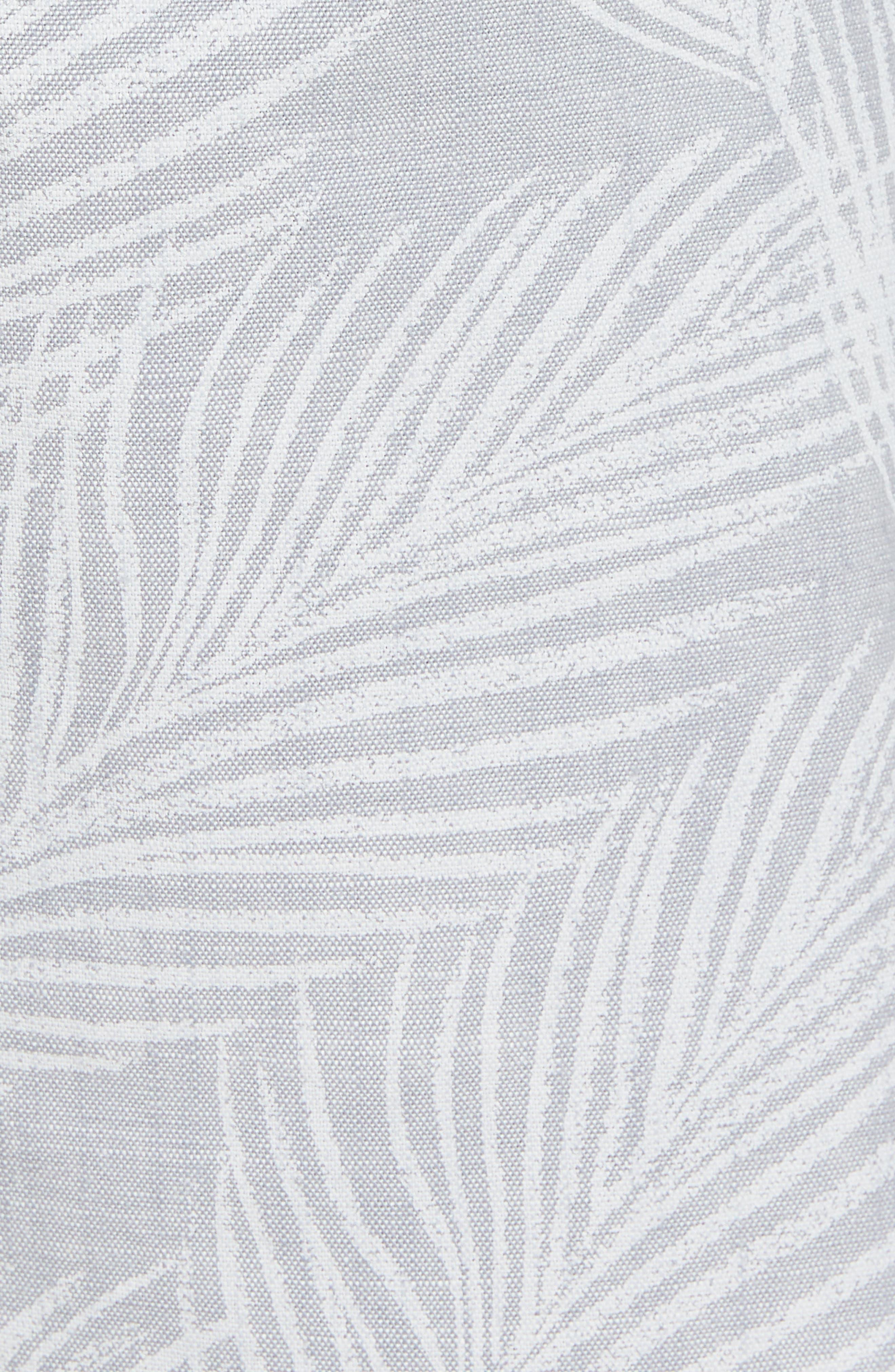 Print Stretch Chino Shorts,                             Alternate thumbnail 5, color,                             Breezy Palms Chambray