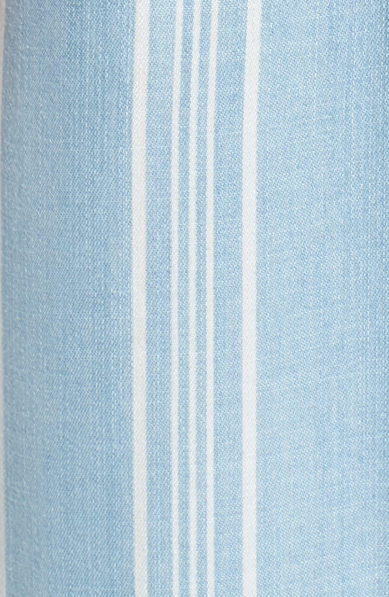 Tailyn Stripe Midi Dress,                             Alternate thumbnail 6, color,                             Chambray