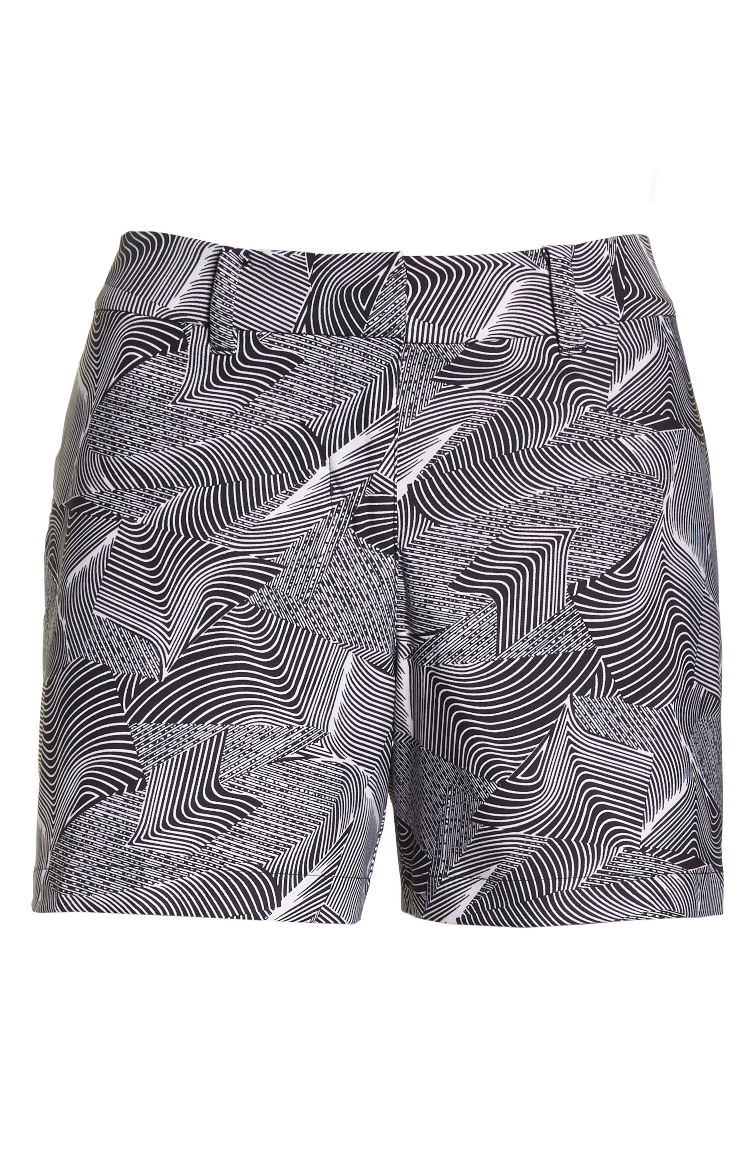 Flex Golf Shorts,                             Alternate thumbnail 7, color,                             White/ Black/ White