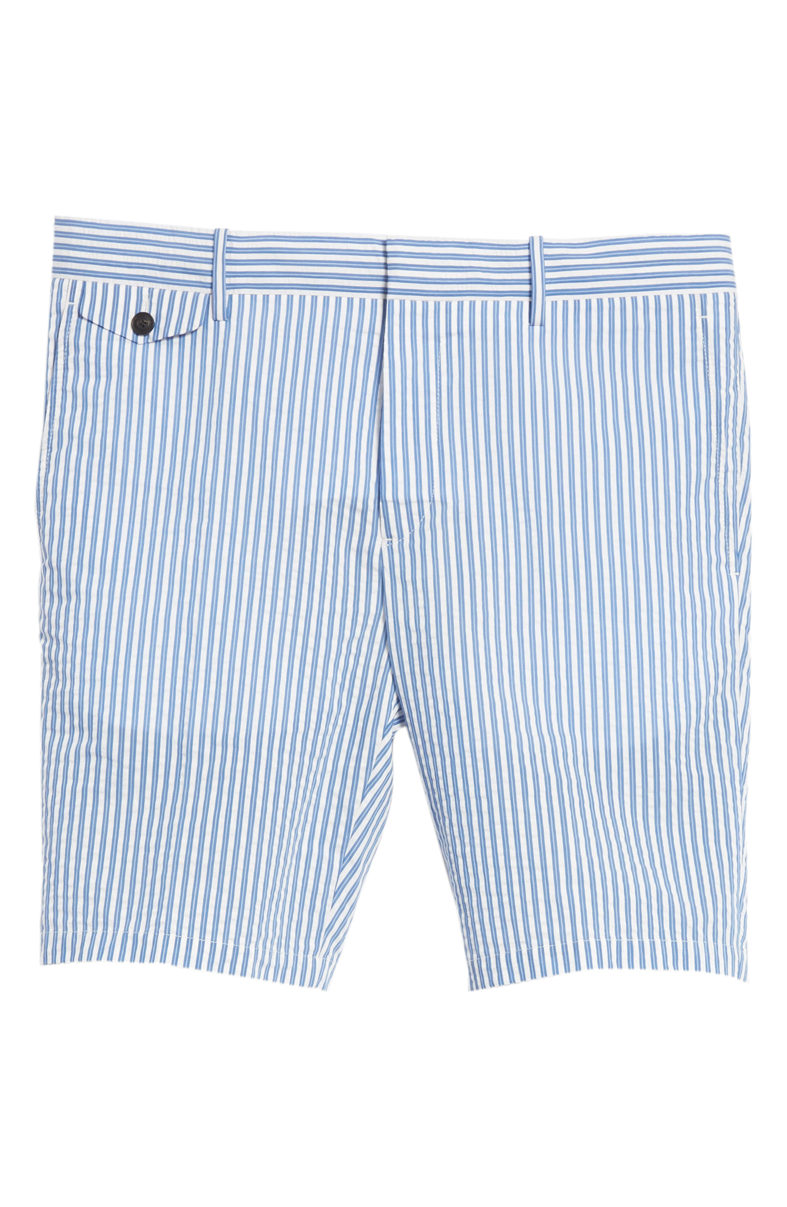 Serpentine Stripe Shorts,                             Alternate thumbnail 6, color,                             Navy